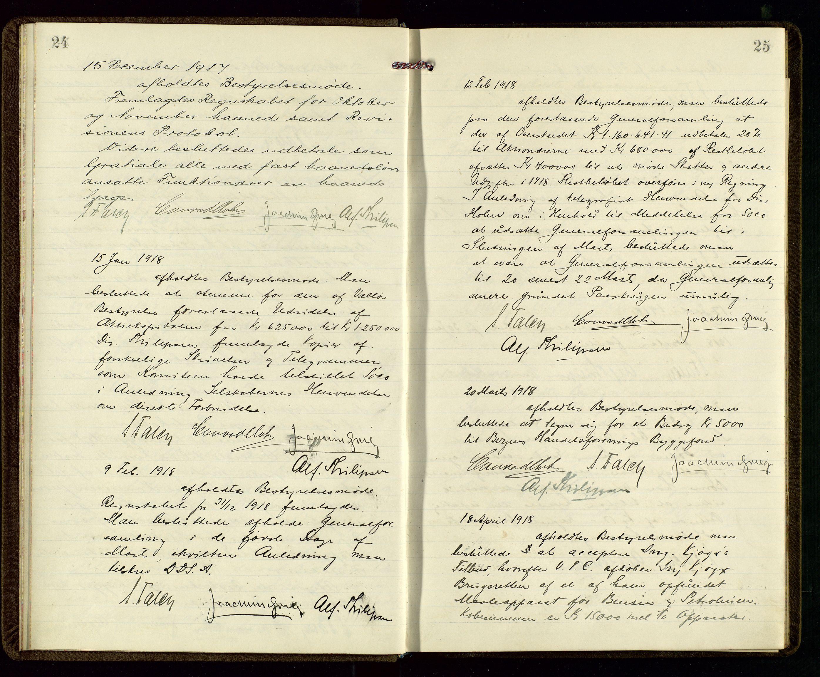SAST, PA 1533 - A/S Vestlandske Petroleumscompani, A/Aa/L0001: Generalforsamlinger og styreprotokoller, 1915-1922, s. 24-25