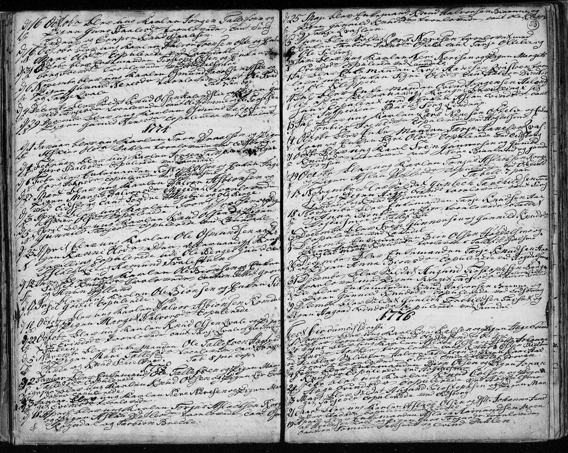 SAKO, Lårdal kirkebøker, F/Fa/L0003: Ministerialbok nr. I 3, 1754-1790, s. 53