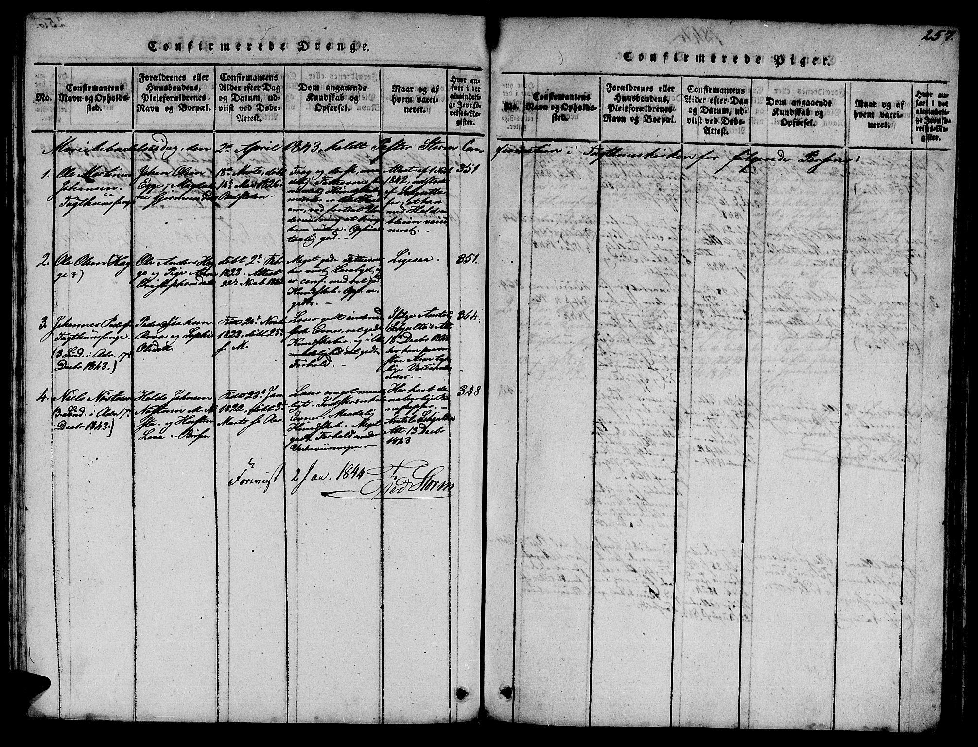 SAT, Ministerialprotokoller, klokkerbøker og fødselsregistre - Sør-Trøndelag, 623/L0478: Klokkerbok nr. 623C01, 1815-1873, s. 257