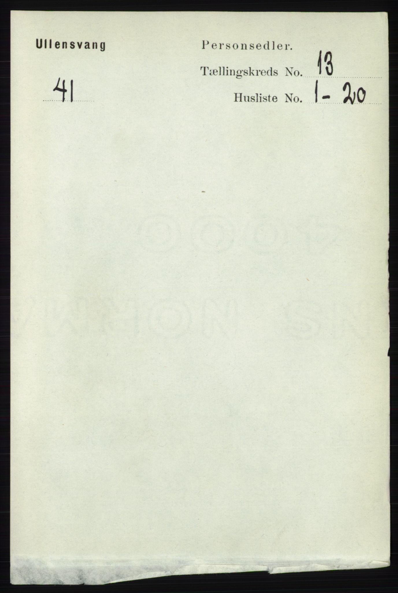 RA, Folketelling 1891 for 1230 Ullensvang herred, 1891, s. 5088