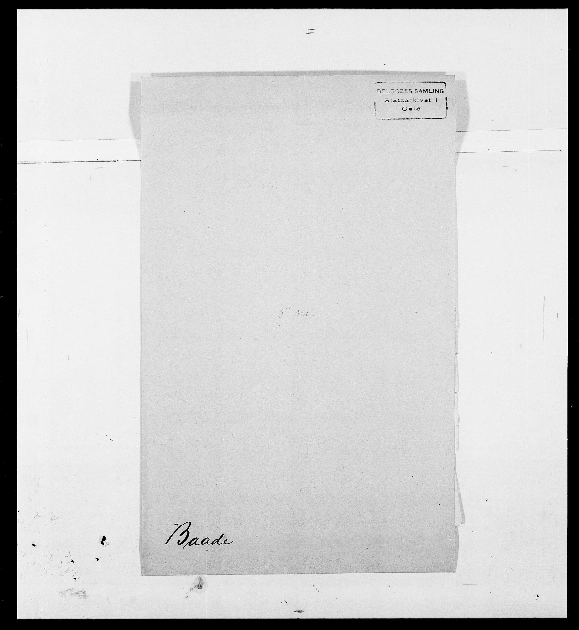 SAO, Delgobe, Charles Antoine - samling, D/Da/L0002: Anker, Ancher - Bauner, s. 540