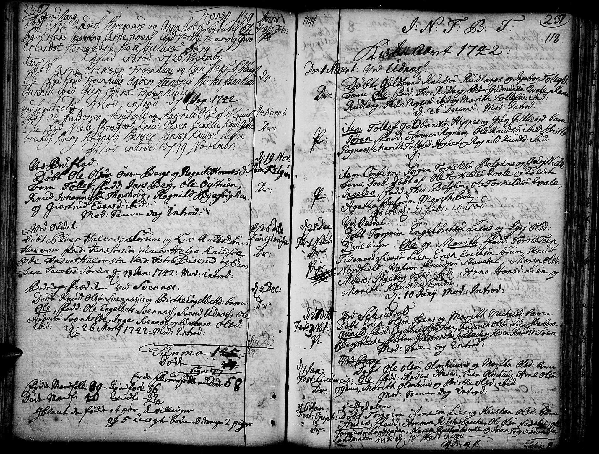 SAH, Aurdal prestekontor, Ministerialbok nr. 4, 1730-1762, s. 236-237