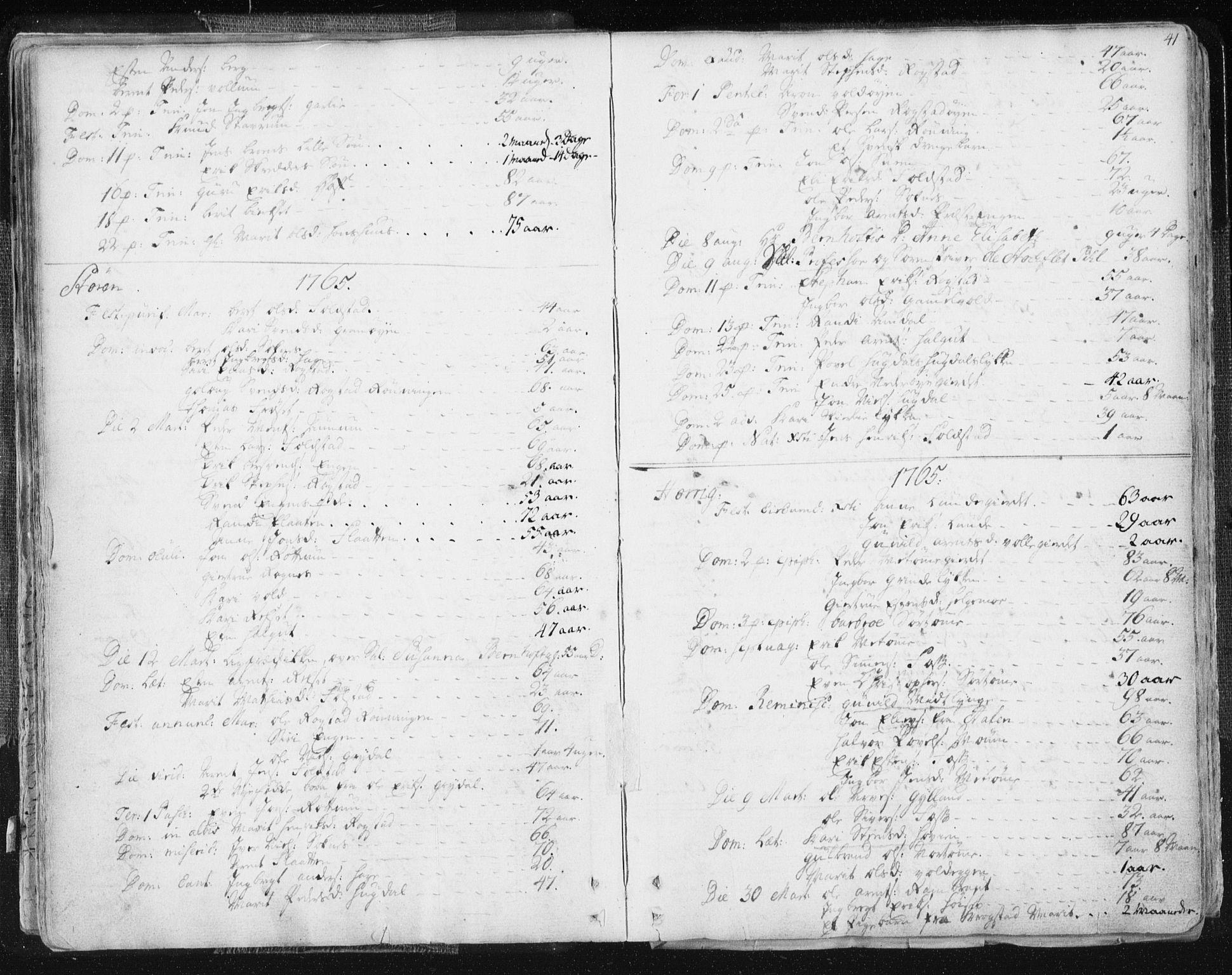 SAT, Ministerialprotokoller, klokkerbøker og fødselsregistre - Sør-Trøndelag, 687/L0991: Ministerialbok nr. 687A02, 1747-1790, s. 41