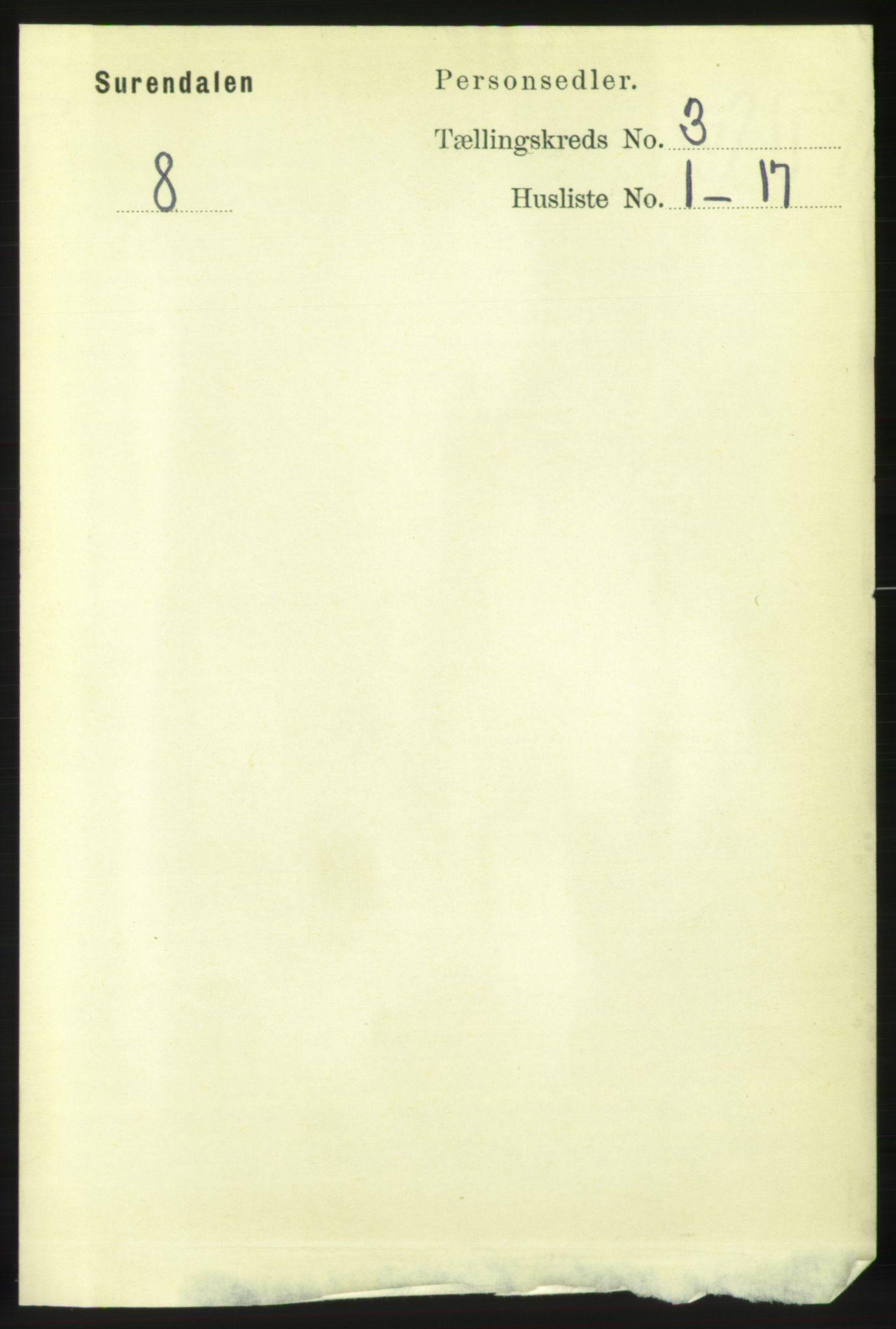 RA, Folketelling 1891 for 1566 Surnadal herred, 1891, s. 783