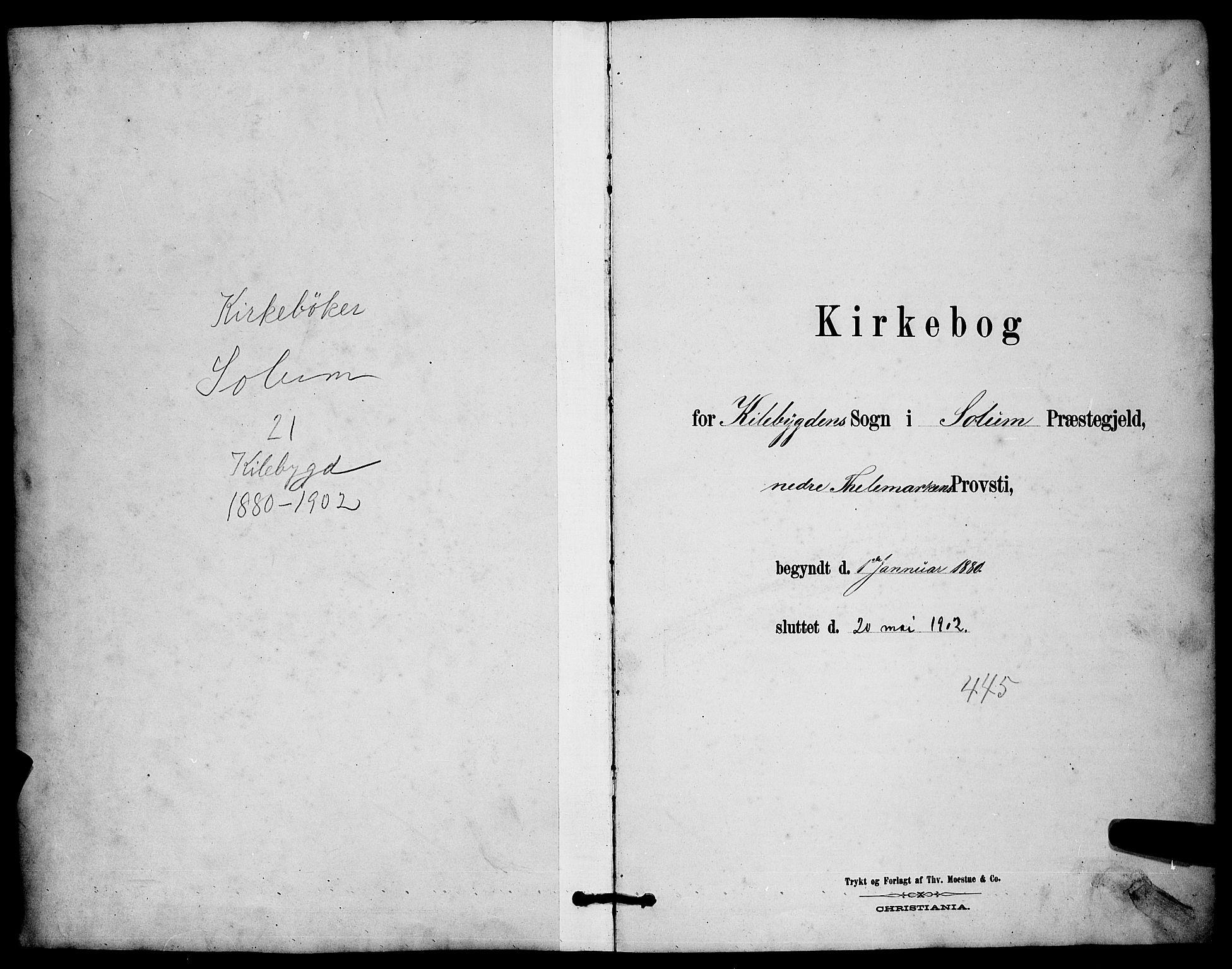 SAKO, Solum kirkebøker, G/Gc/L0001: Klokkerbok nr. III 1, 1880-1902