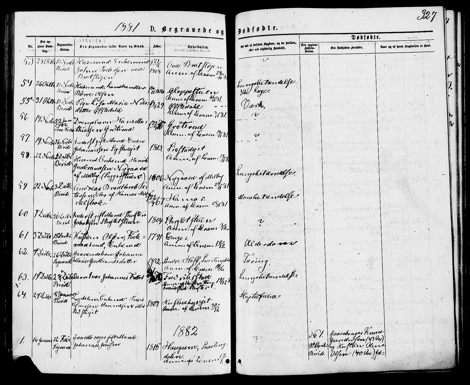 SAH, Biri prestekontor, Ministerialbok nr. 6, 1877-1886, s. 327