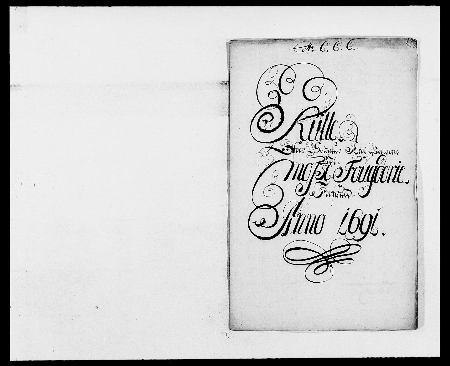 RA, Rentekammeret inntil 1814, Reviderte regnskaper, Fogderegnskap, R02/L0106: Fogderegnskap Moss og Verne kloster, 1688-1691, s. 545