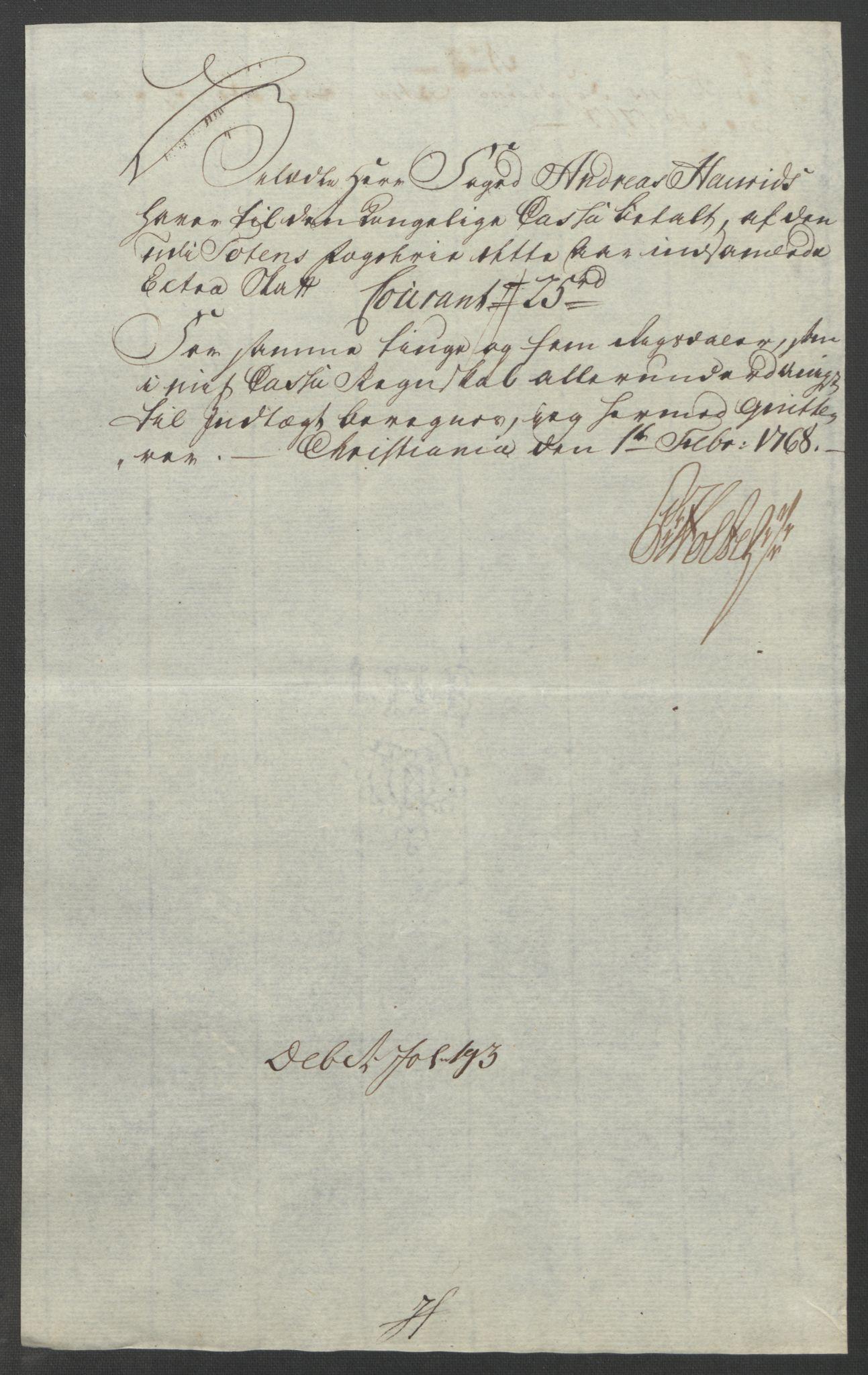 RA, Rentekammeret inntil 1814, Reviderte regnskaper, Fogderegnskap, R19/L1399: Fogderegnskap Toten, Hadeland og Vardal, 1762-1783, s. 148