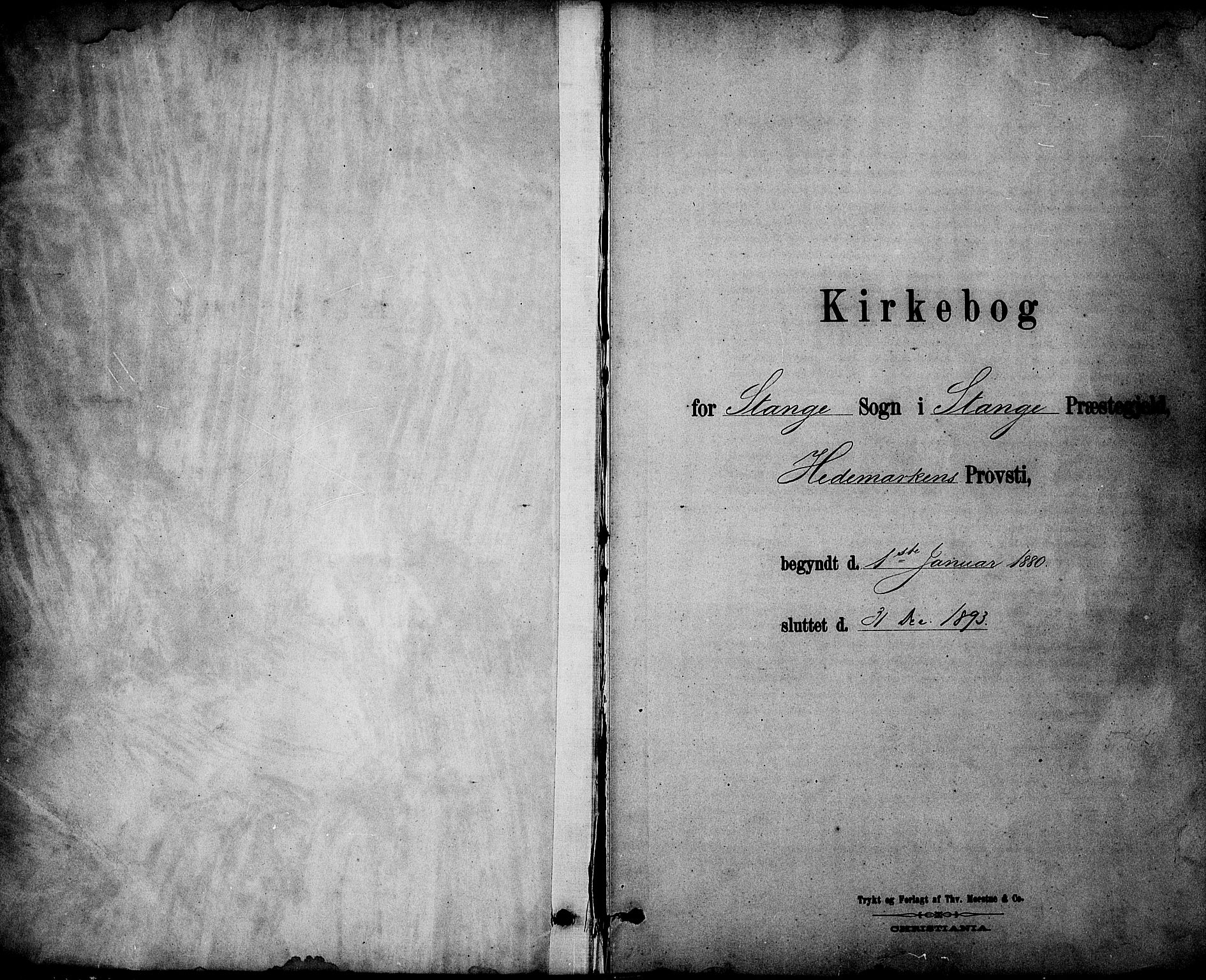 SAH, Stange prestekontor, K/L0017: Ministerialbok nr. 17, 1880-1893