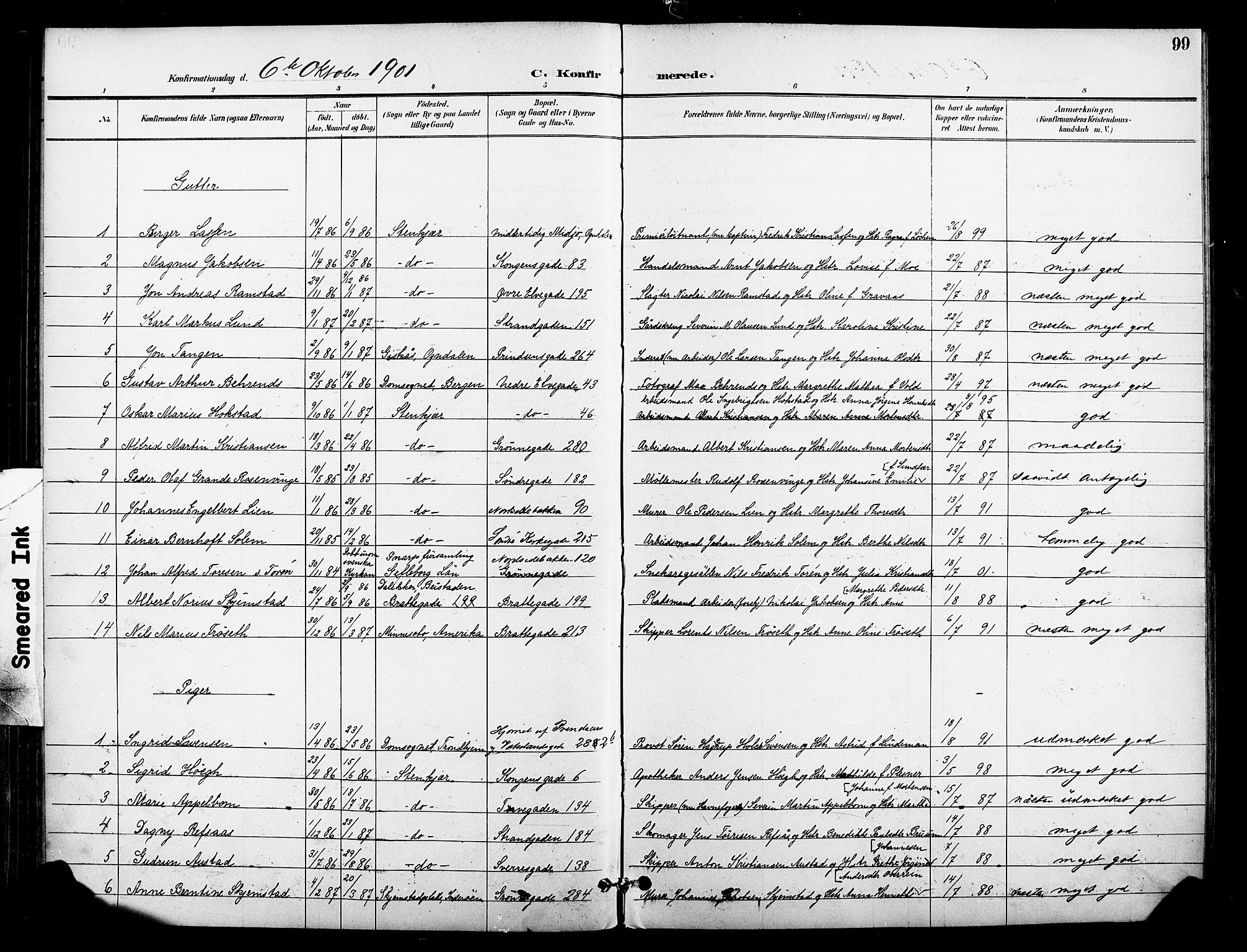 SAT, Ministerialprotokoller, klokkerbøker og fødselsregistre - Nord-Trøndelag, 739/L0372: Ministerialbok nr. 739A04, 1895-1903, s. 99