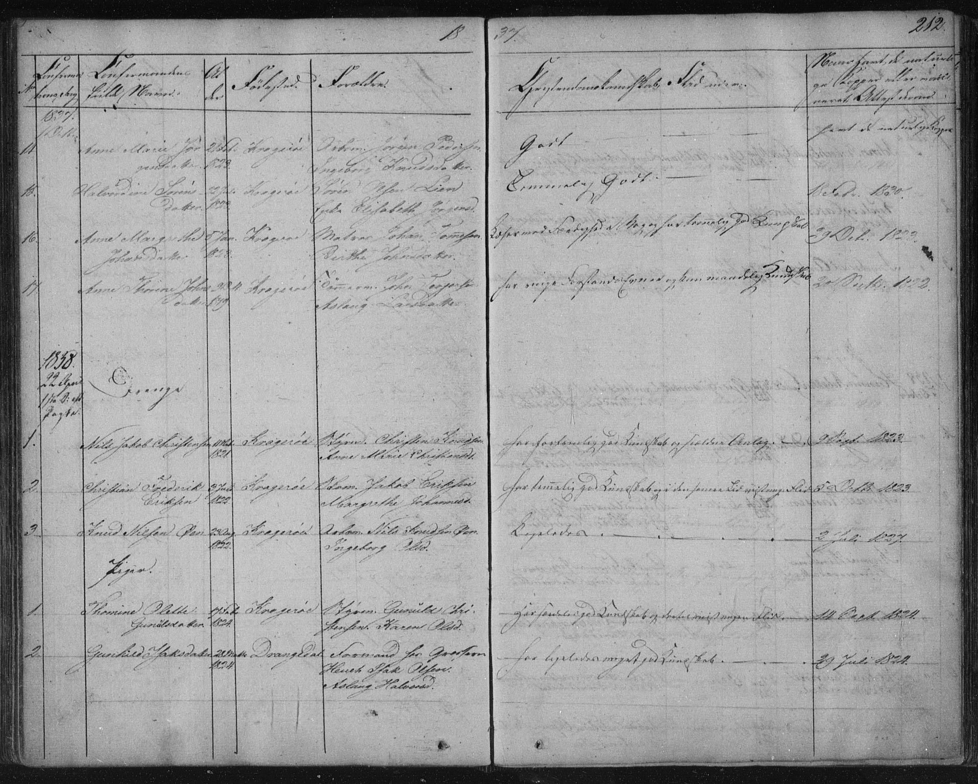 SAKO, Kragerø kirkebøker, F/Fa/L0005: Ministerialbok nr. 5, 1832-1847, s. 212