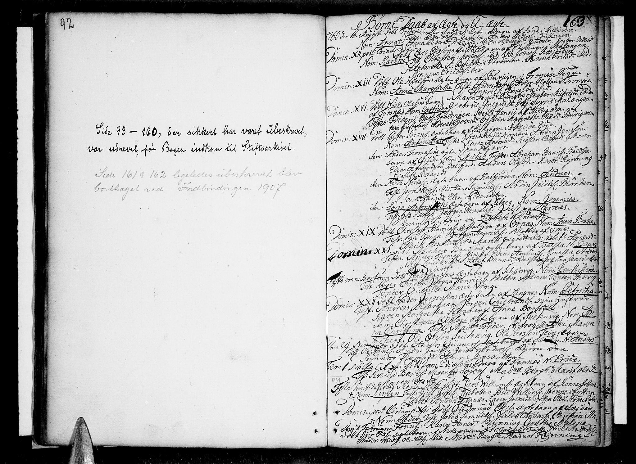 SATØ, Lenvik sokneprestembete, H/Ha: Ministerialbok nr. 1, 1753-1783, s. 92