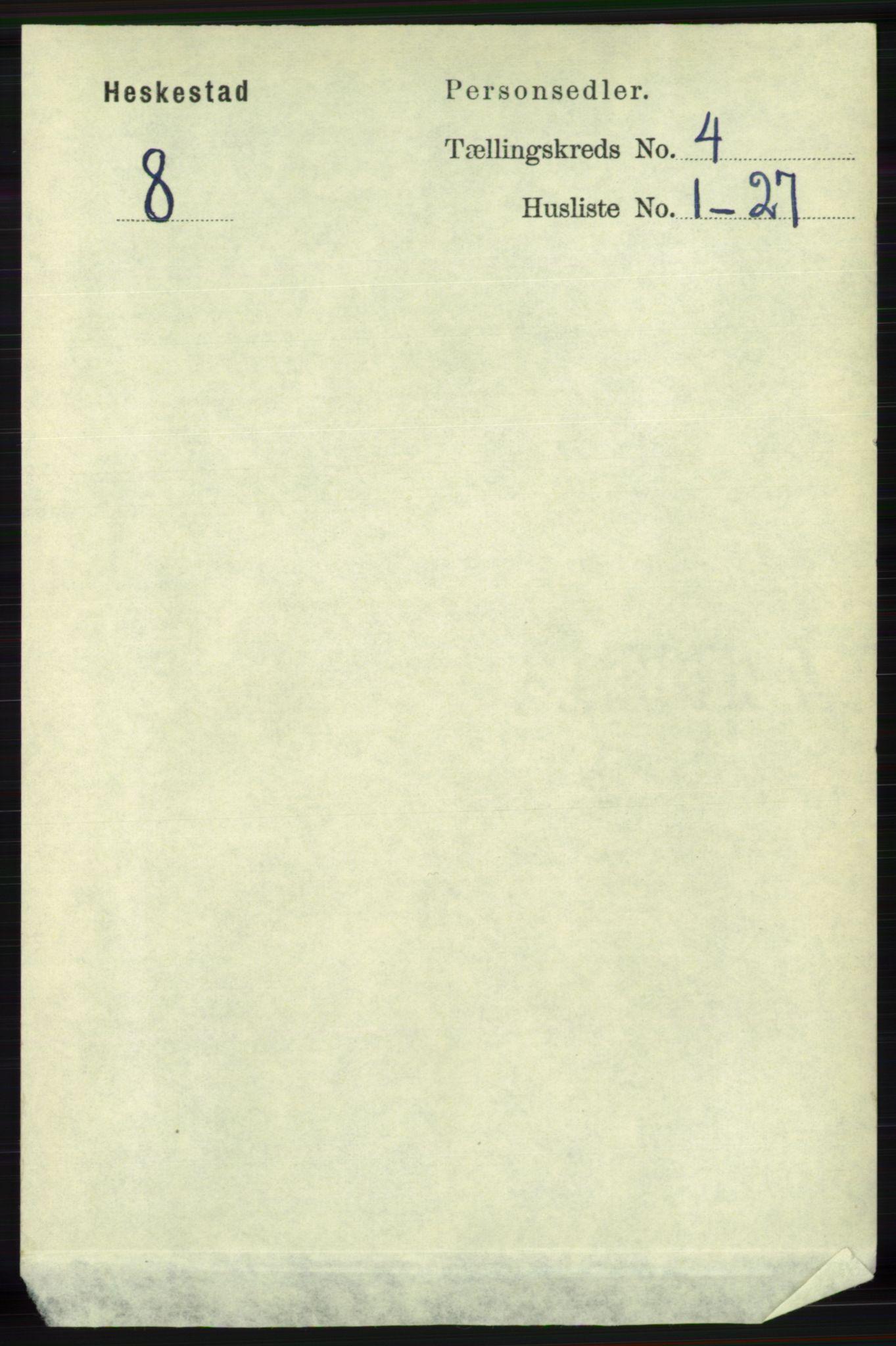 RA, Folketelling 1891 for 1113 Heskestad herred, 1891, s. 541