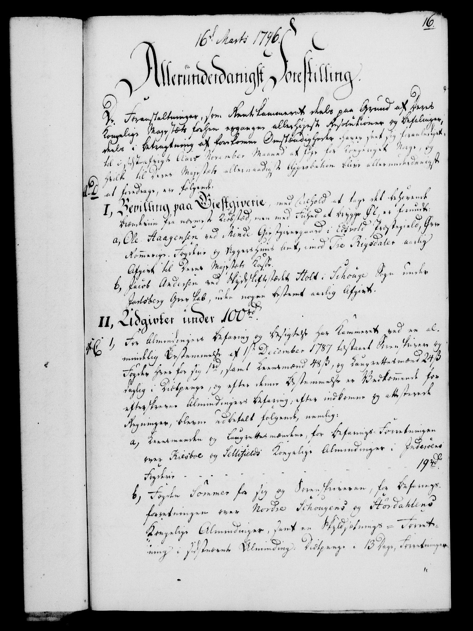 RA, Rentekammeret, Kammerkanselliet, G/Gf/Gfa/L0078: Norsk relasjons- og resolusjonsprotokoll (merket RK 52.78), 1796, s. 105