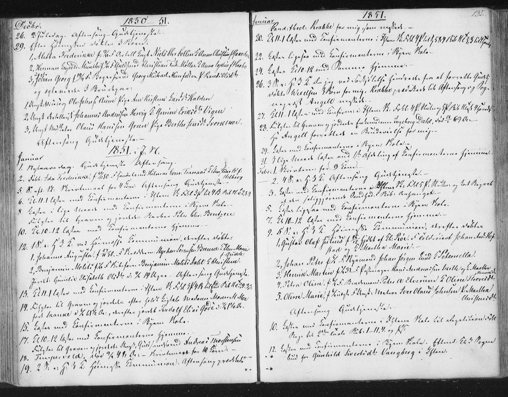 SAT, Ministerialprotokoller, klokkerbøker og fødselsregistre - Sør-Trøndelag, 602/L0127: Residerende kapellans bok nr. 602B01, 1821-1875, s. 135