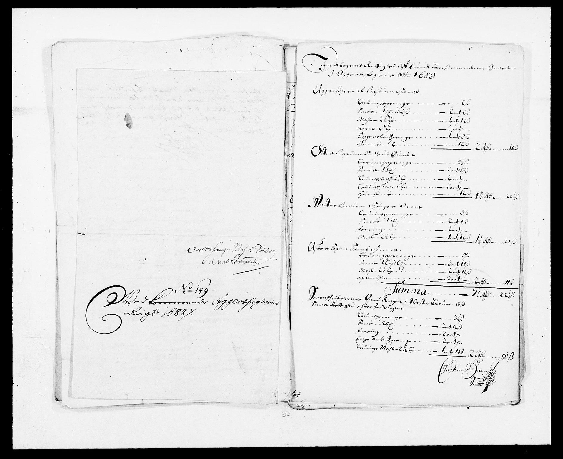 RA, Rentekammeret inntil 1814, Reviderte regnskaper, Fogderegnskap, R08/L0424: Fogderegnskap Aker, 1682-1689, s. 281