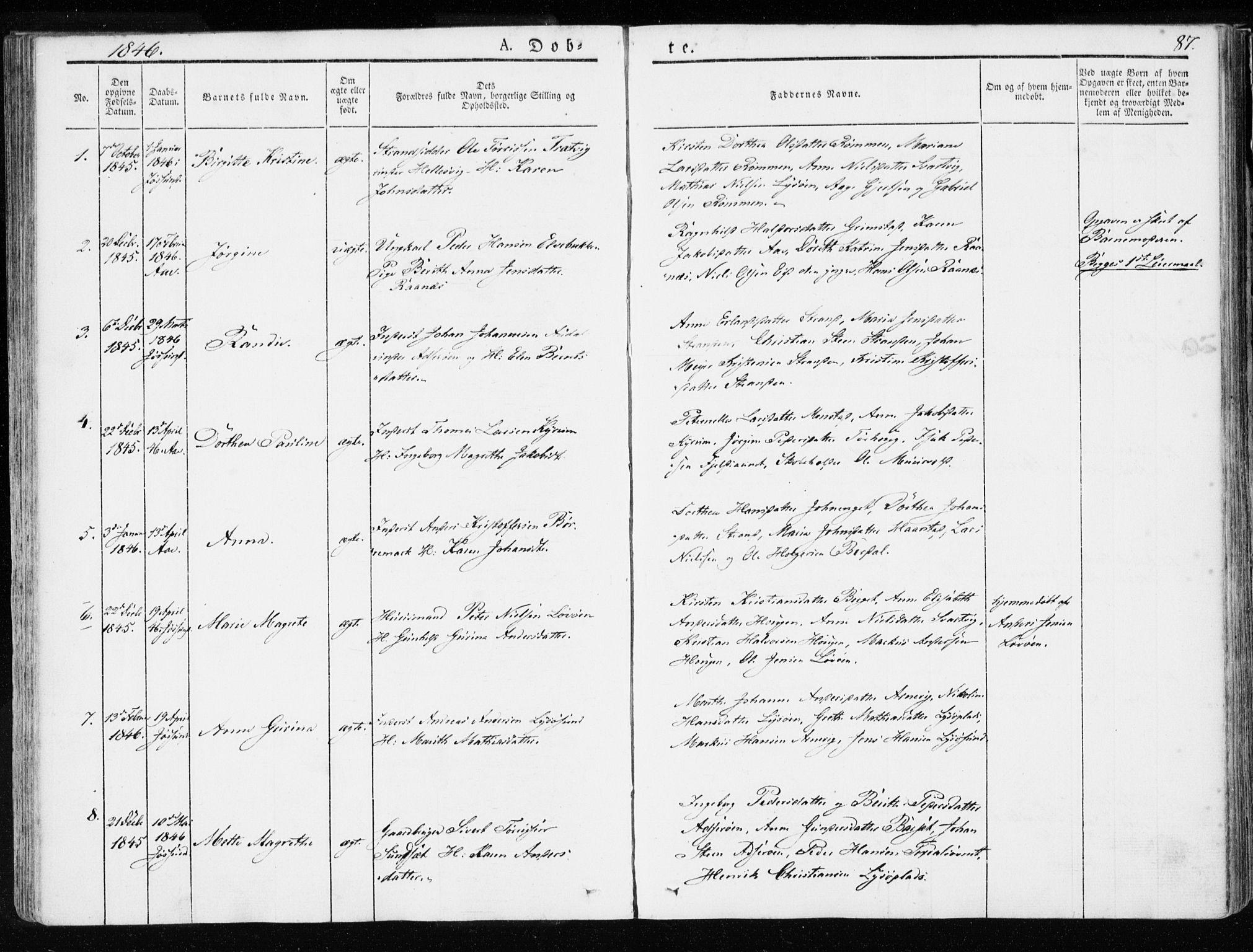 SAT, Ministerialprotokoller, klokkerbøker og fødselsregistre - Sør-Trøndelag, 655/L0676: Ministerialbok nr. 655A05, 1830-1847, s. 87