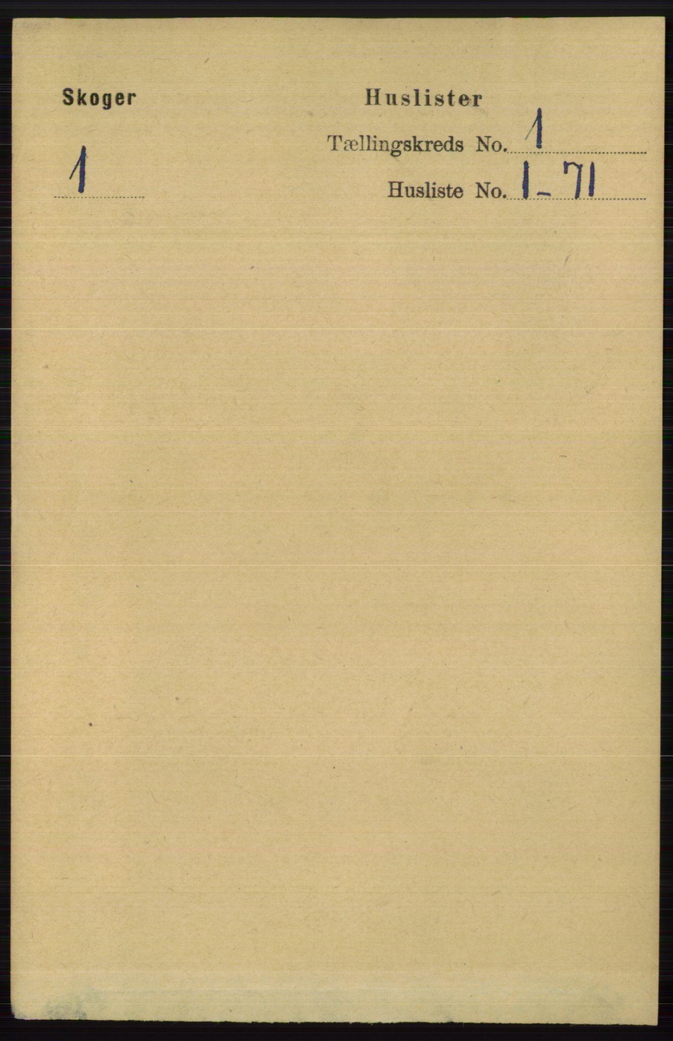RA, Folketelling 1891 for 0712 Skoger herred, 1891, s. 21