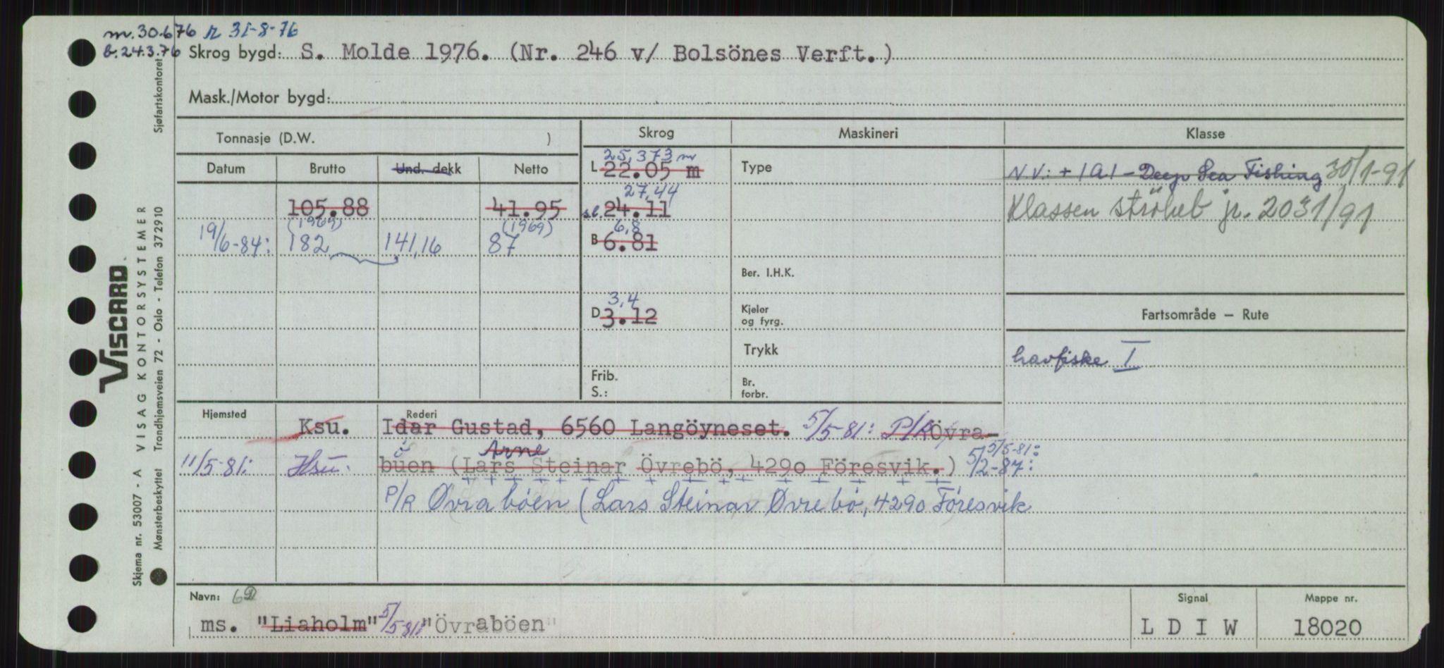 RA, Sjøfartsdirektoratet med forløpere, Skipsmålingen, H/Ha/L0006: Fartøy, Sver-Å, s. 776