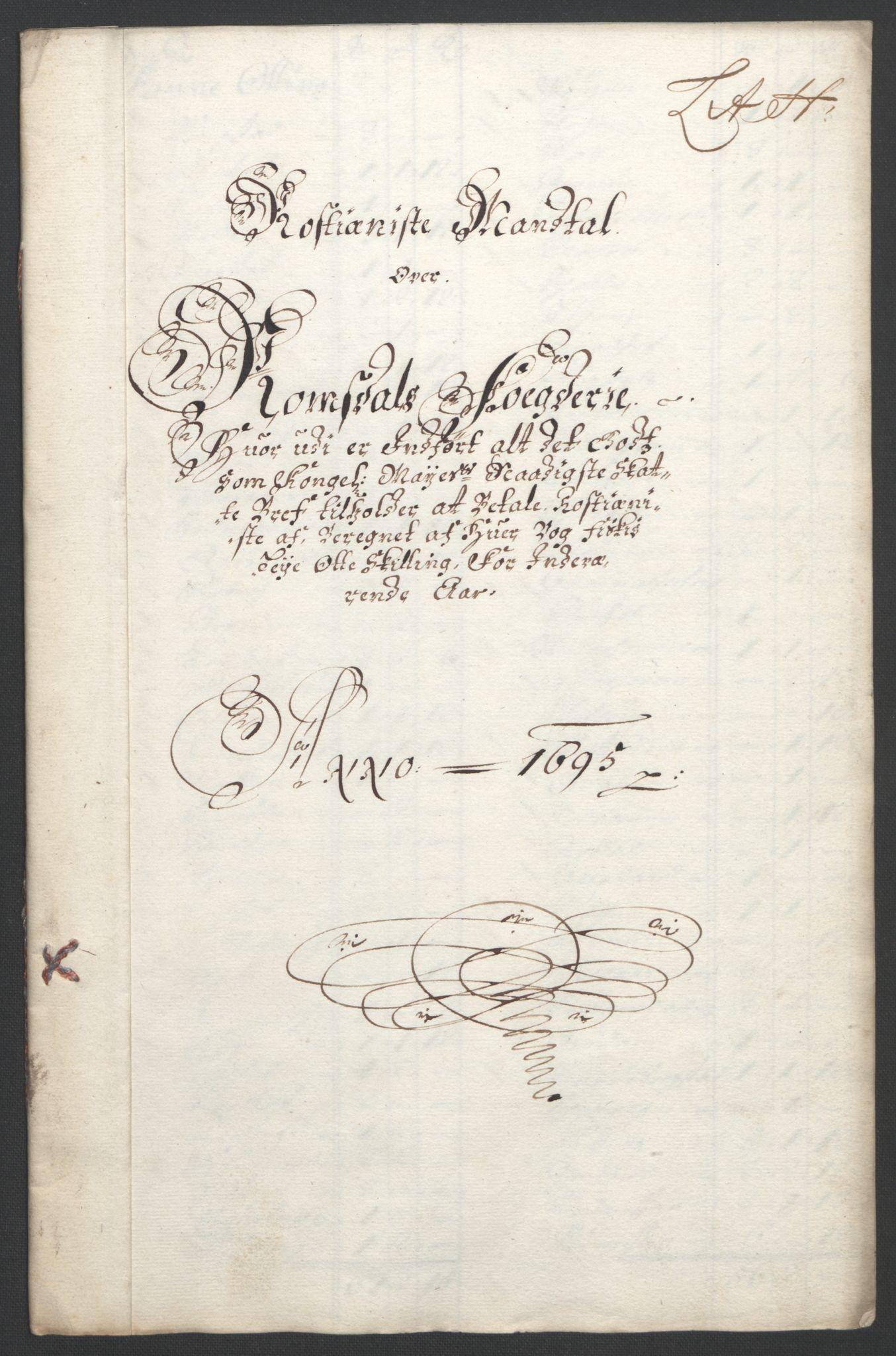 RA, Rentekammeret inntil 1814, Reviderte regnskaper, Fogderegnskap, R55/L3652: Fogderegnskap Romsdal, 1695-1696, s. 91