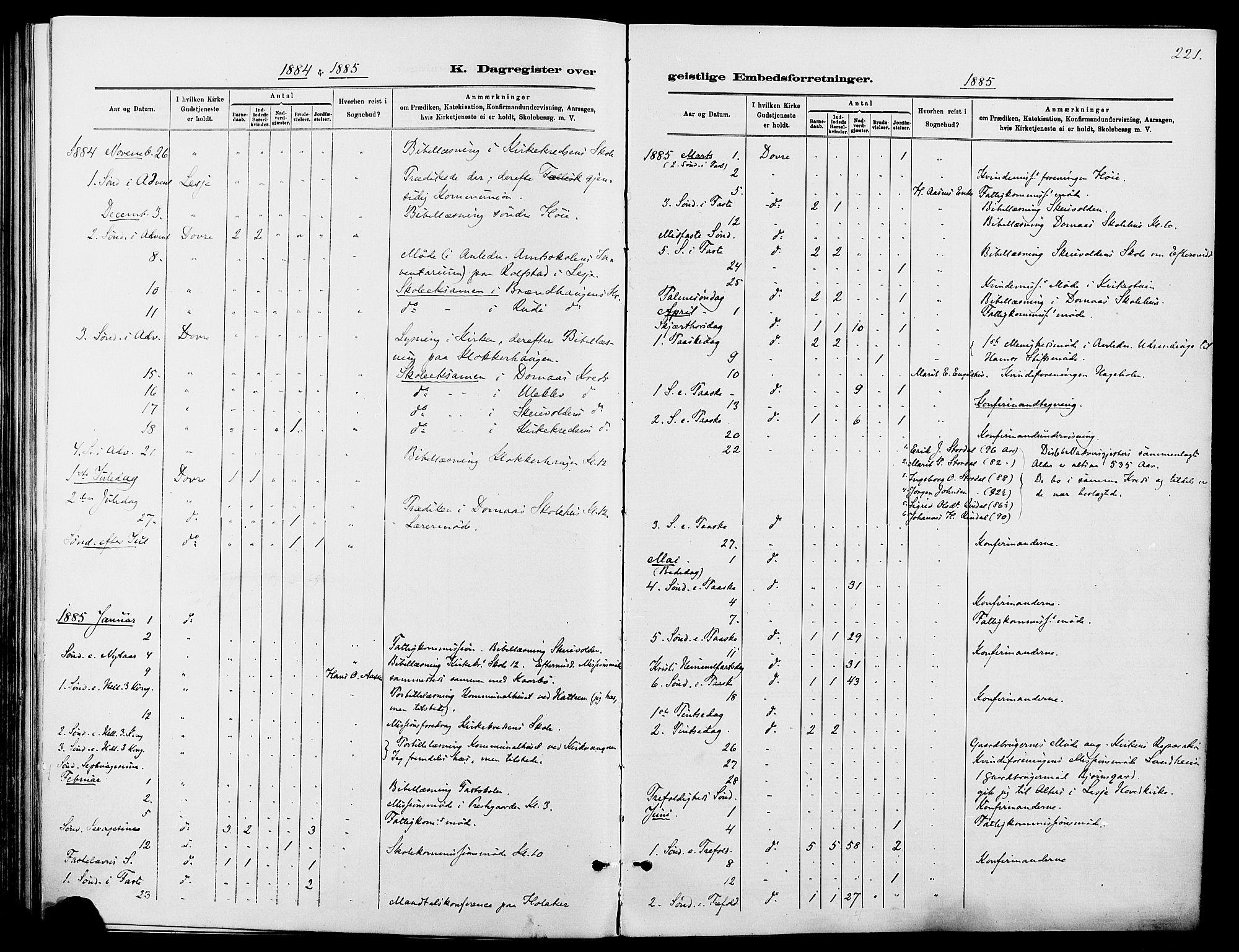 SAH, Dovre prestekontor, Ministerialbok nr. 2, 1879-1890, s. 221