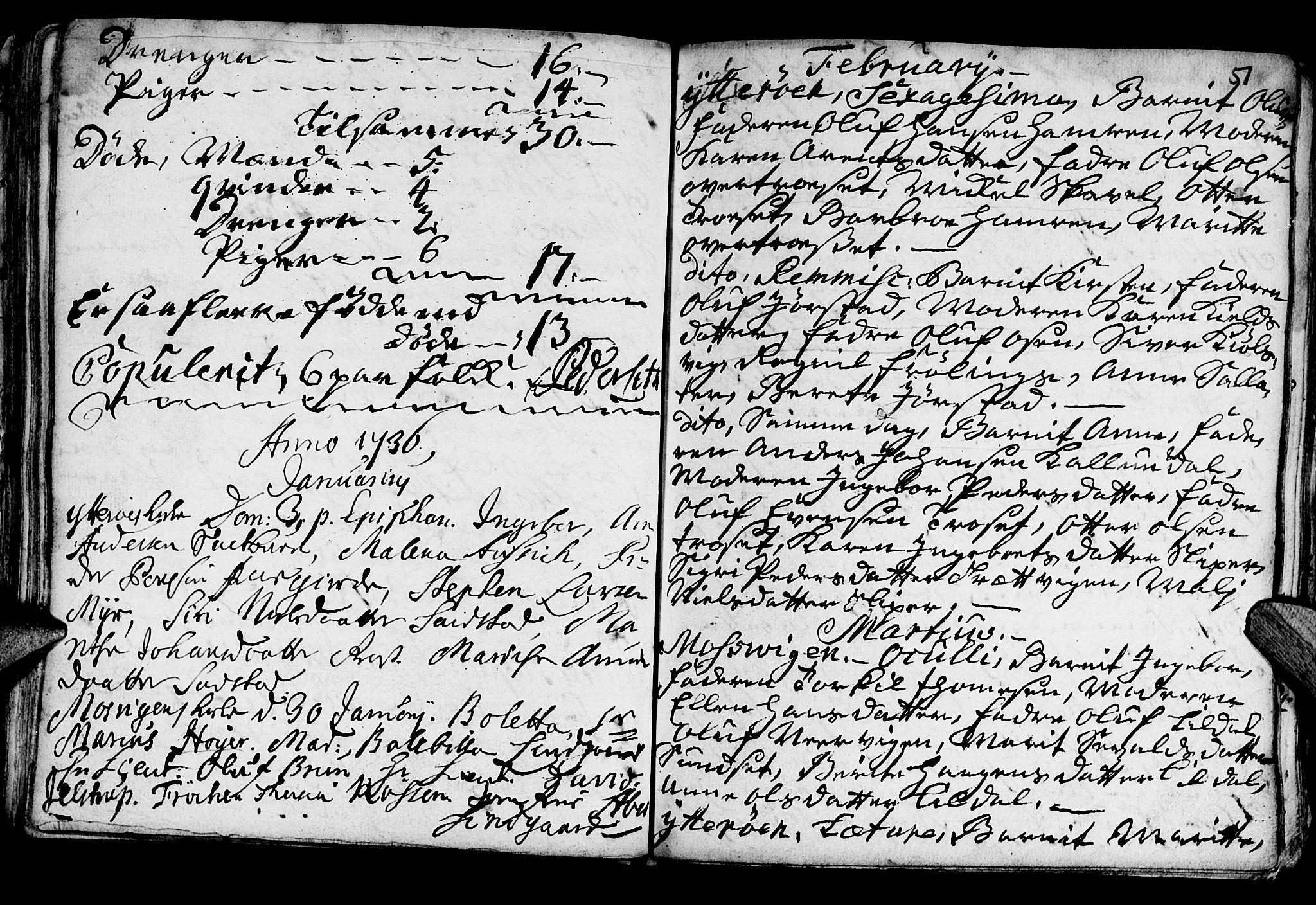 SAT, Ministerialprotokoller, klokkerbøker og fødselsregistre - Nord-Trøndelag, 722/L0215: Ministerialbok nr. 722A02, 1718-1755, s. 51