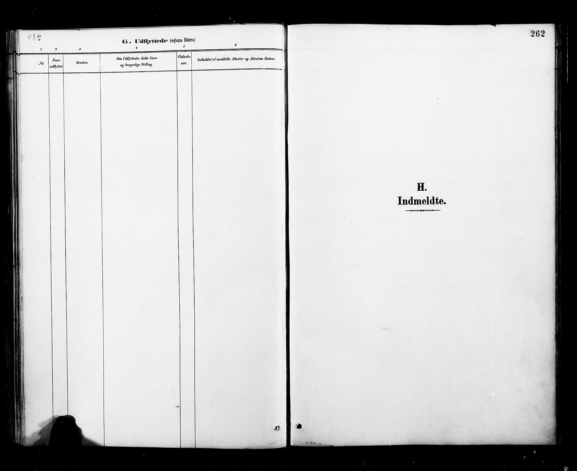 SAT, Ministerialprotokoller, klokkerbøker og fødselsregistre - Nordland, 827/L0401: Ministerialbok nr. 827A13, 1887-1905, s. 262