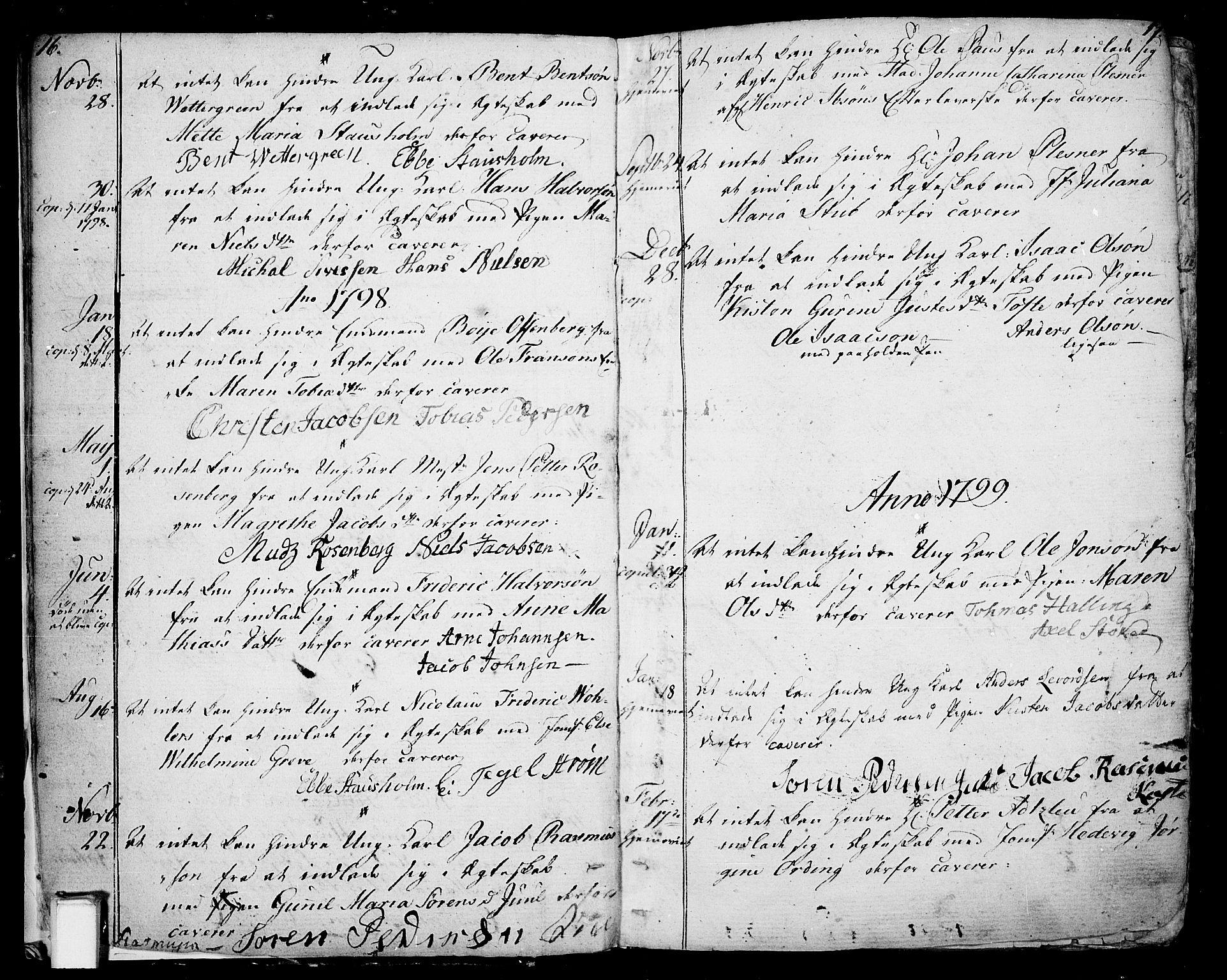 SAKO, Skien kirkebøker, F/Fa/L0004: Ministerialbok nr. 4, 1792-1814, s. 16-17