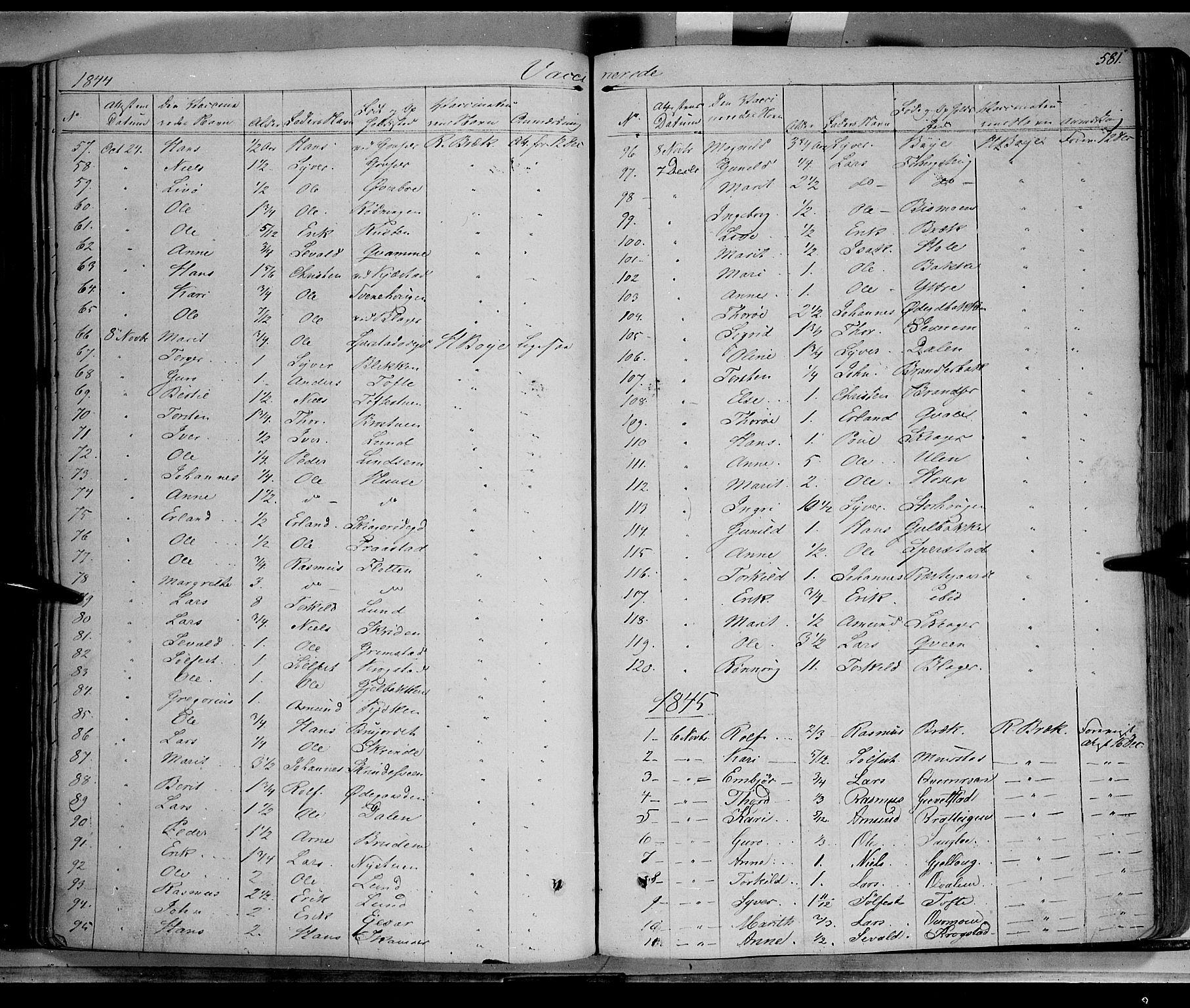 SAH, Lom prestekontor, K/L0006: Ministerialbok nr. 6B, 1837-1863, s. 581
