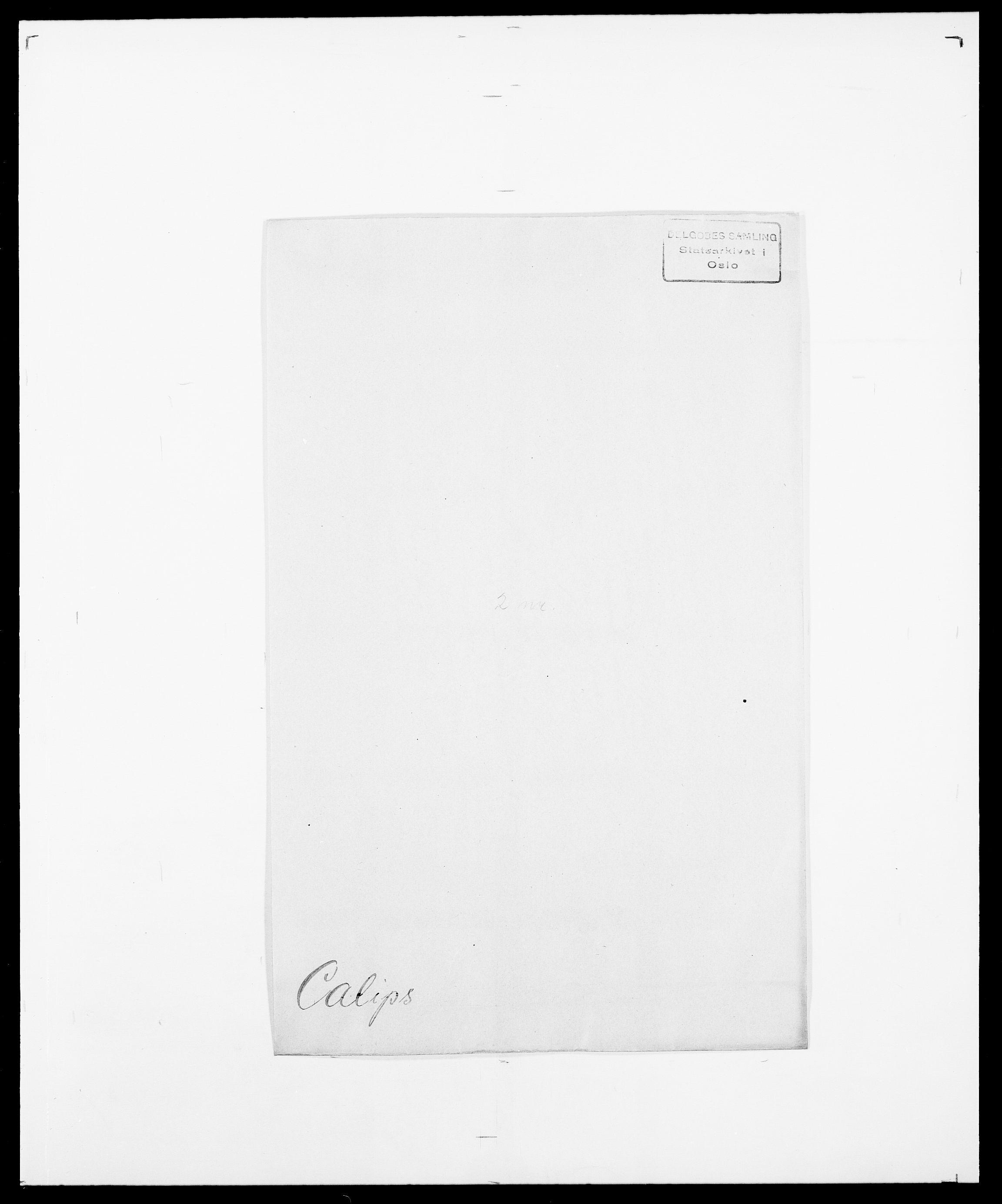 SAO, Delgobe, Charles Antoine - samling, D/Da/L0007: Buaas - Caphengst, s. 821