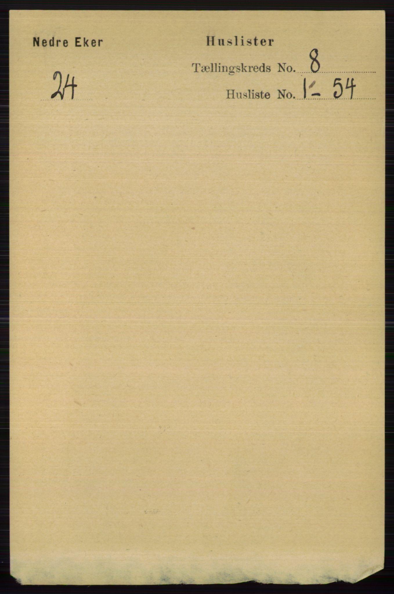 RA, Folketelling 1891 for 0625 Nedre Eiker herred, 1891, s. 3896