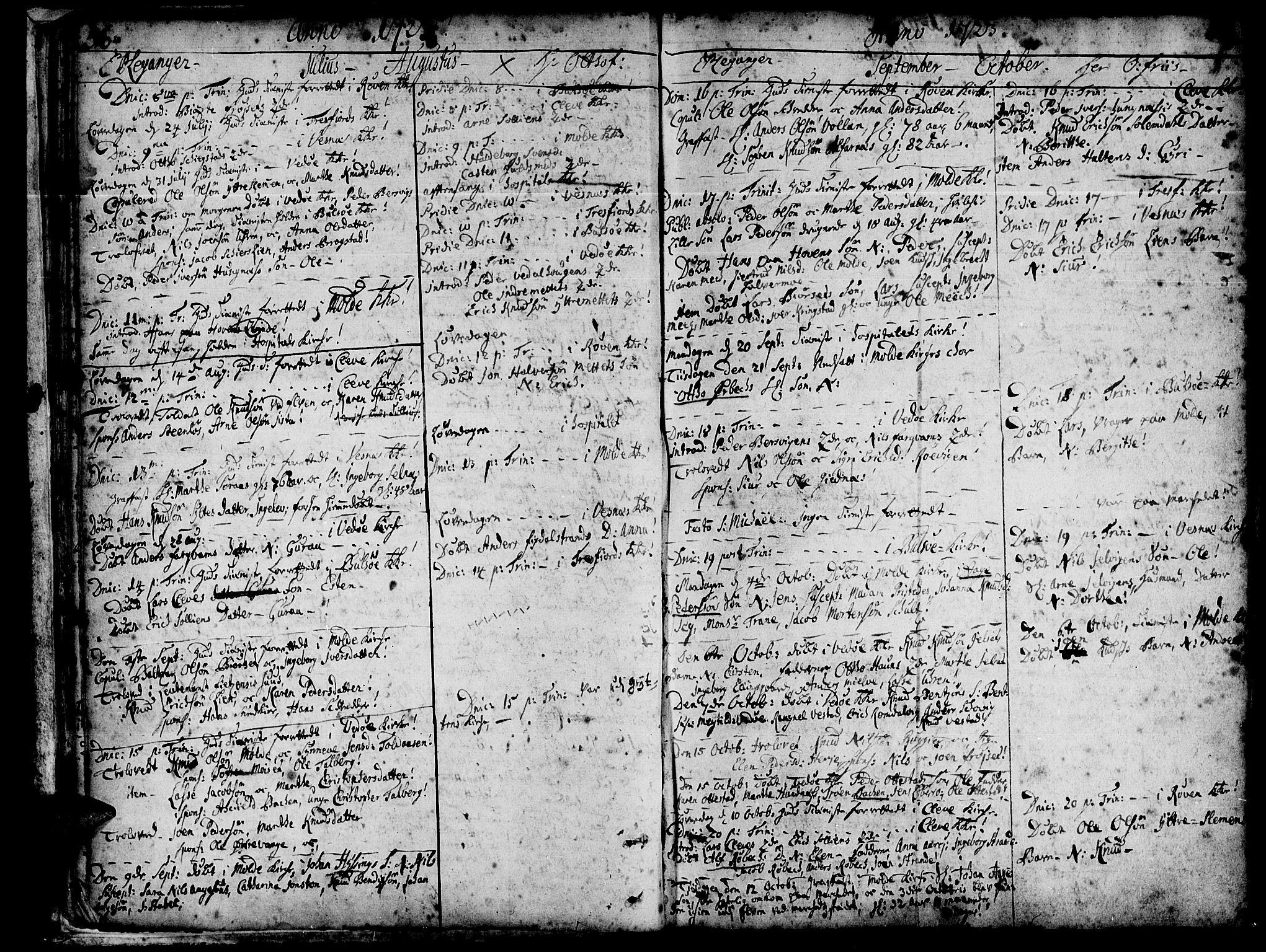 SAT, Ministerialprotokoller, klokkerbøker og fødselsregistre - Møre og Romsdal, 547/L0599: Ministerialbok nr. 547A01, 1721-1764, s. 38-39