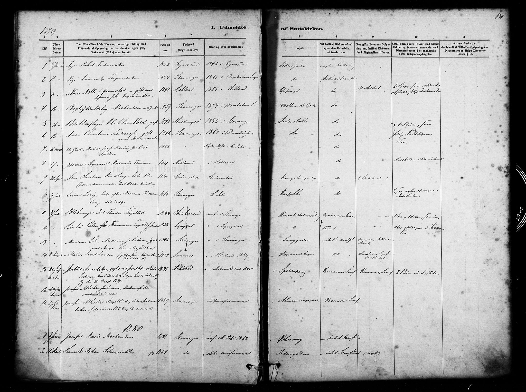 SAST, St. Petri sokneprestkontor, 30/30BA/L0011: Ministerialbok nr. A 11, 1879-1892, s. 130