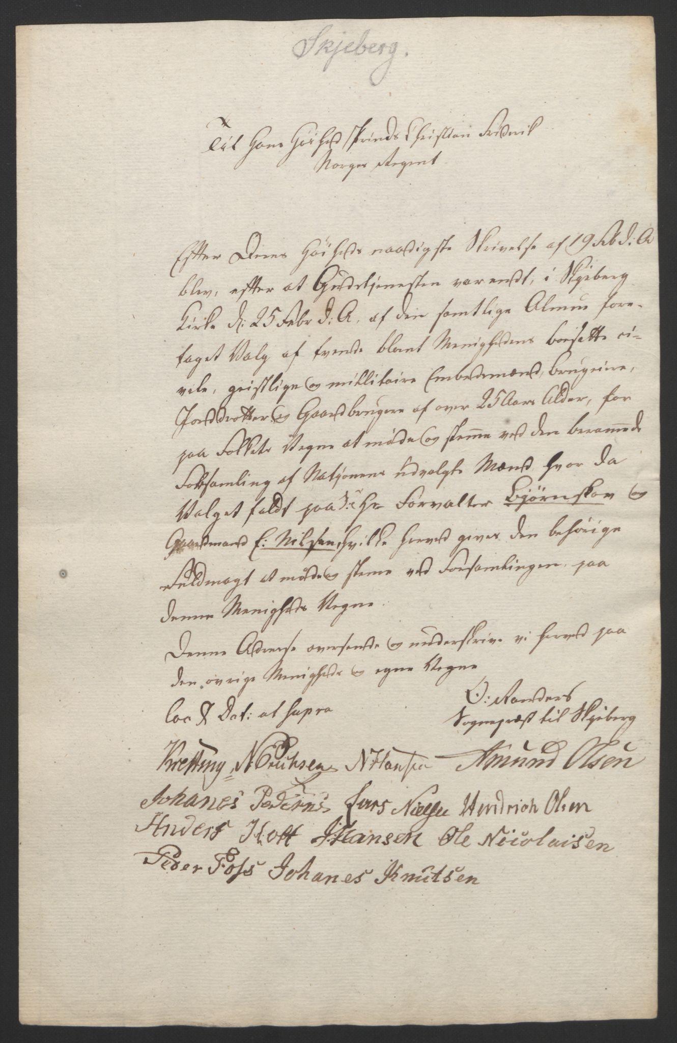 RA, Statsrådssekretariatet, D/Db/L0007: Fullmakter for Eidsvollsrepresentantene i 1814. , 1814, s. 165
