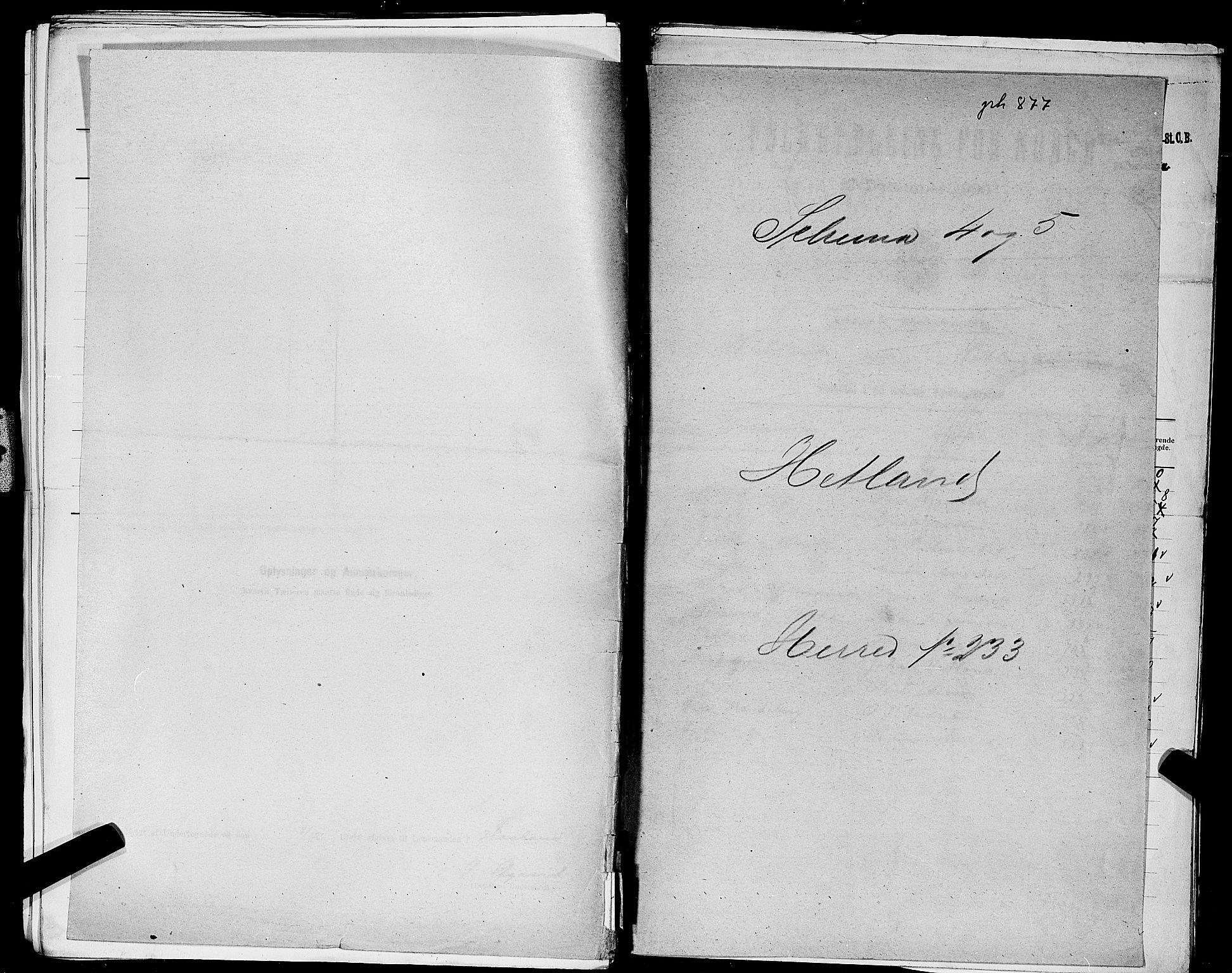 SAST, Folketelling 1900 for 1126 Hetland herred, 1900, s. 1