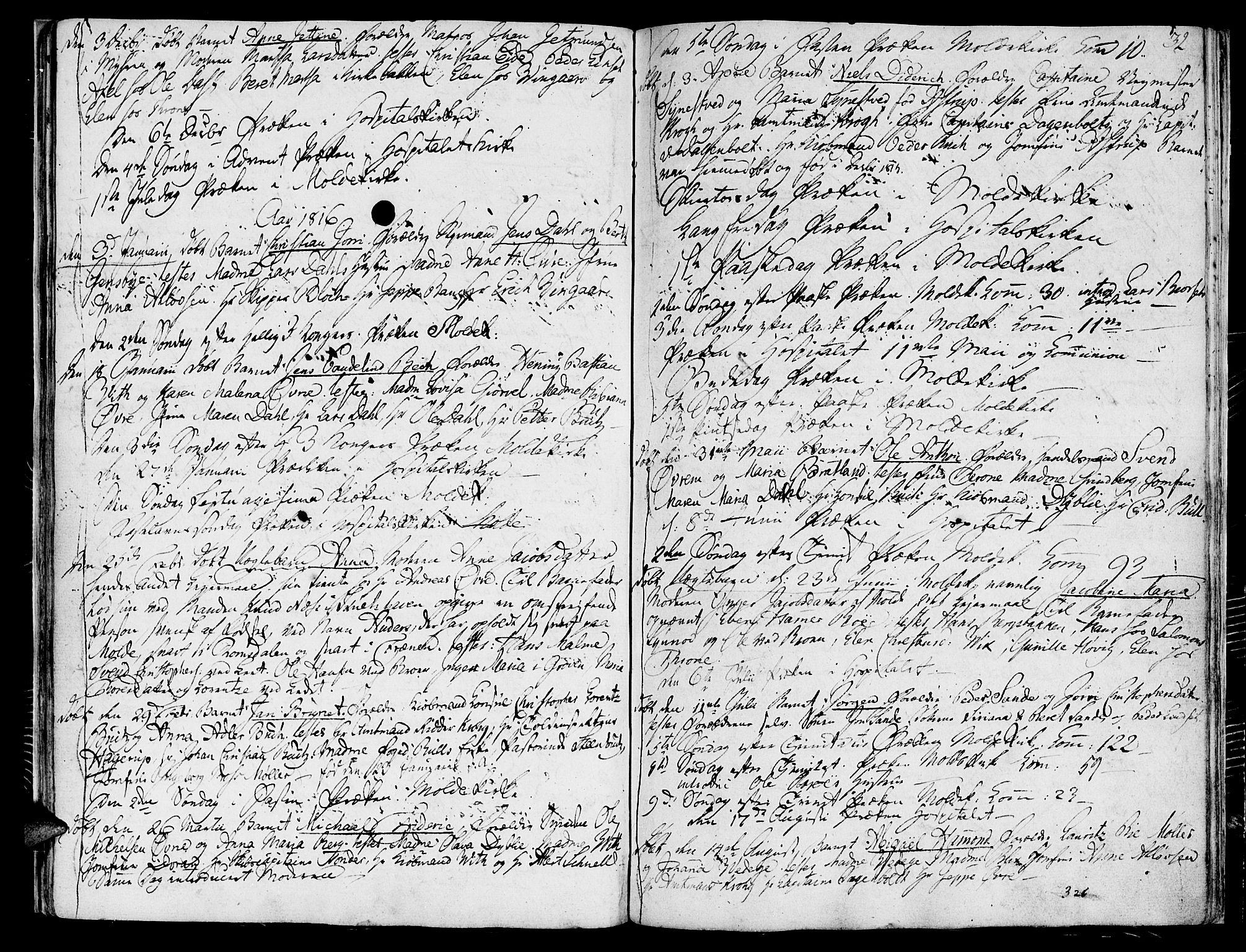 SAT, Ministerialprotokoller, klokkerbøker og fødselsregistre - Møre og Romsdal, 558/L0687: Ministerialbok nr. 558A01, 1798-1818, s. 32