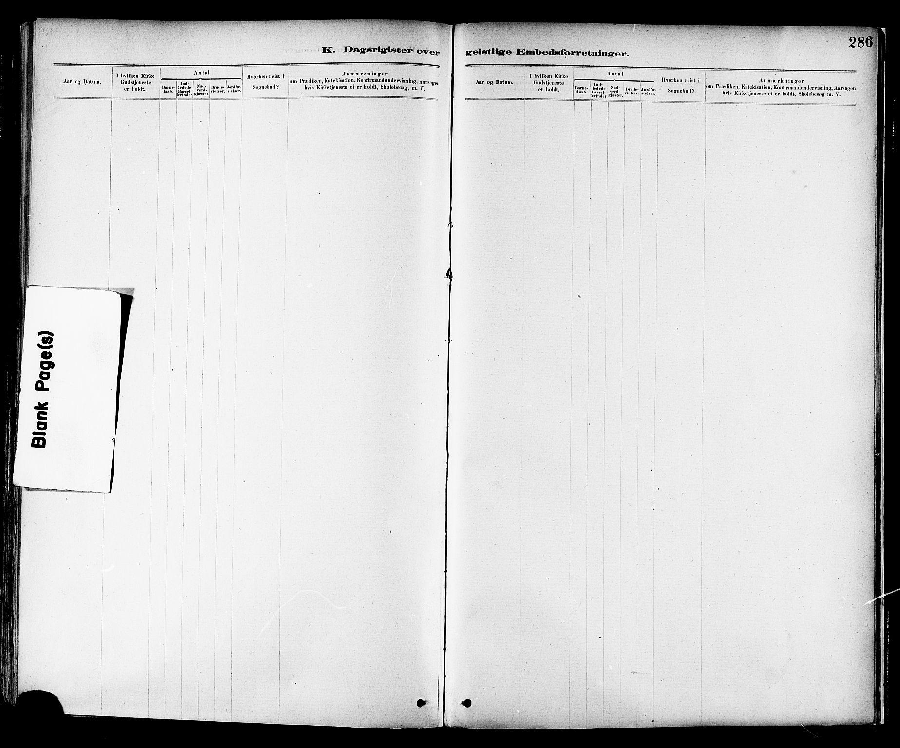 SAT, Ministerialprotokoller, klokkerbøker og fødselsregistre - Nord-Trøndelag, 713/L0120: Ministerialbok nr. 713A09, 1878-1887, s. 286