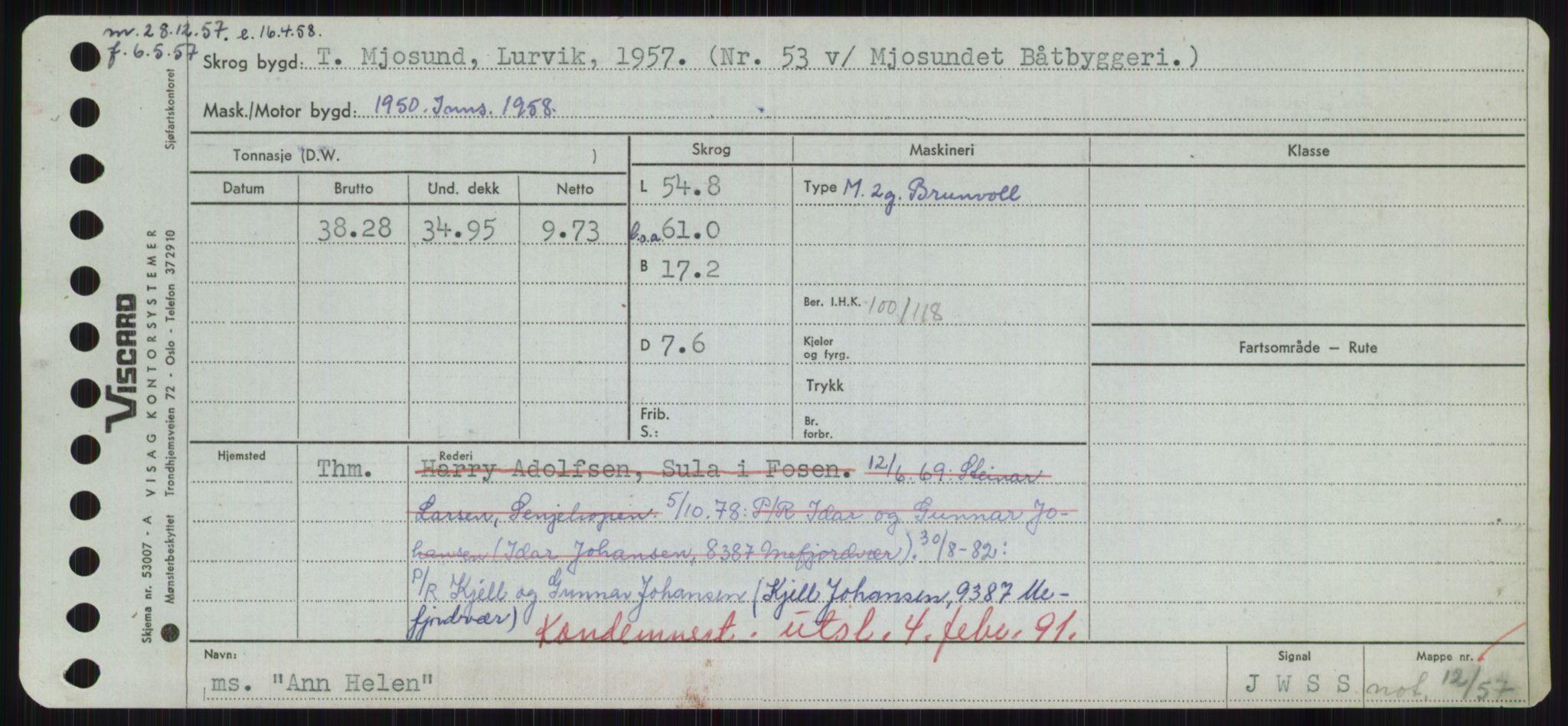RA, Sjøfartsdirektoratet med forløpere, Skipsmålingen, H/Hd/L0001: Fartøy, A-Anv, s. 659