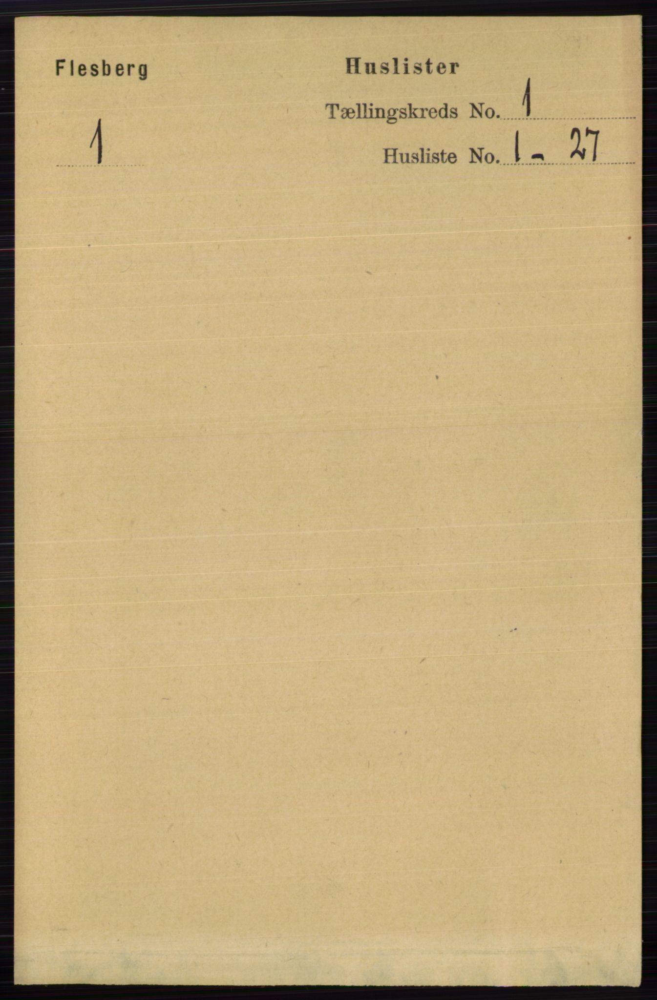 RA, Folketelling 1891 for 0631 Flesberg herred, 1891, s. 43