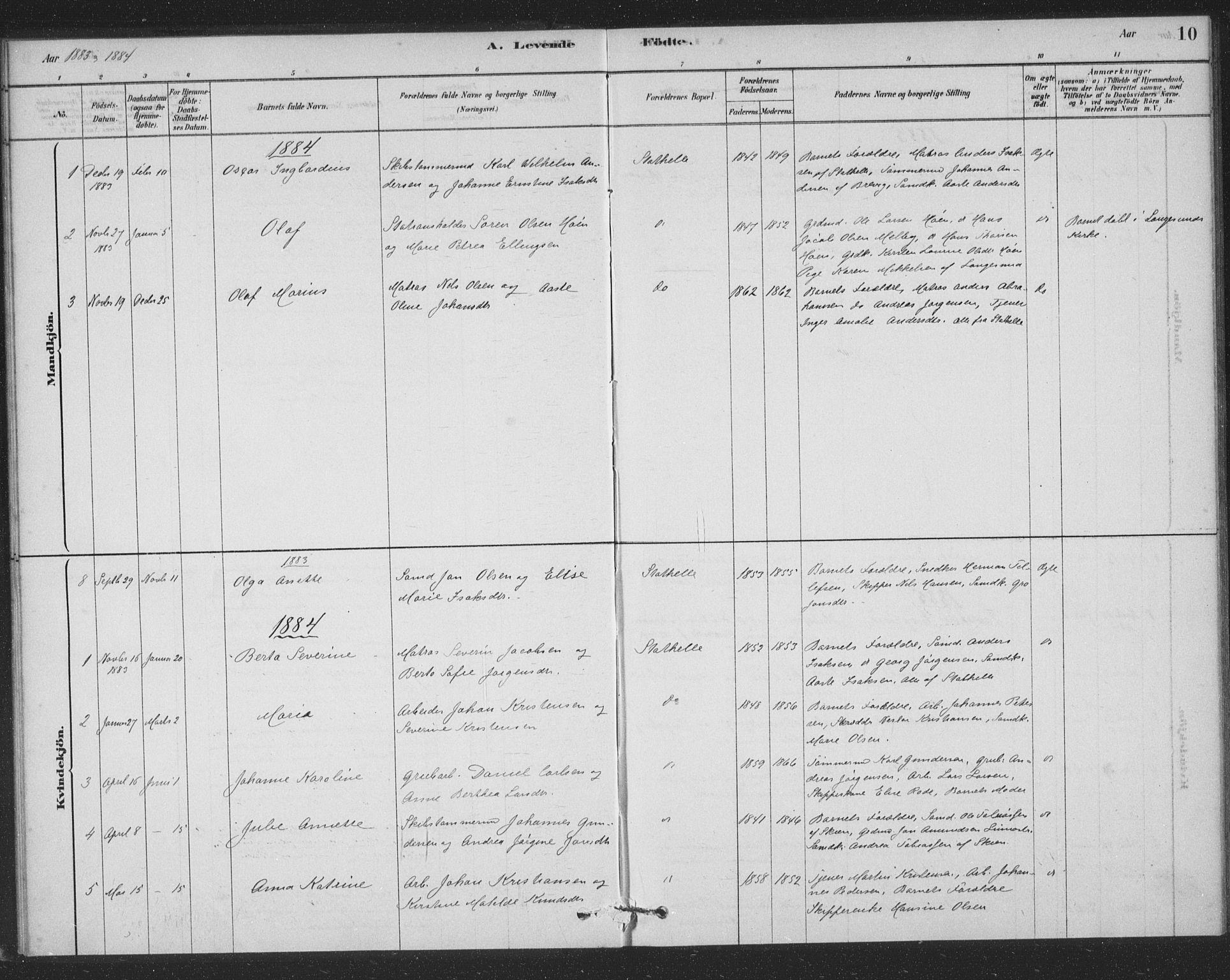 SAKO, Bamble kirkebøker, F/Fb/L0001: Ministerialbok nr. II 1, 1878-1899, s. 10