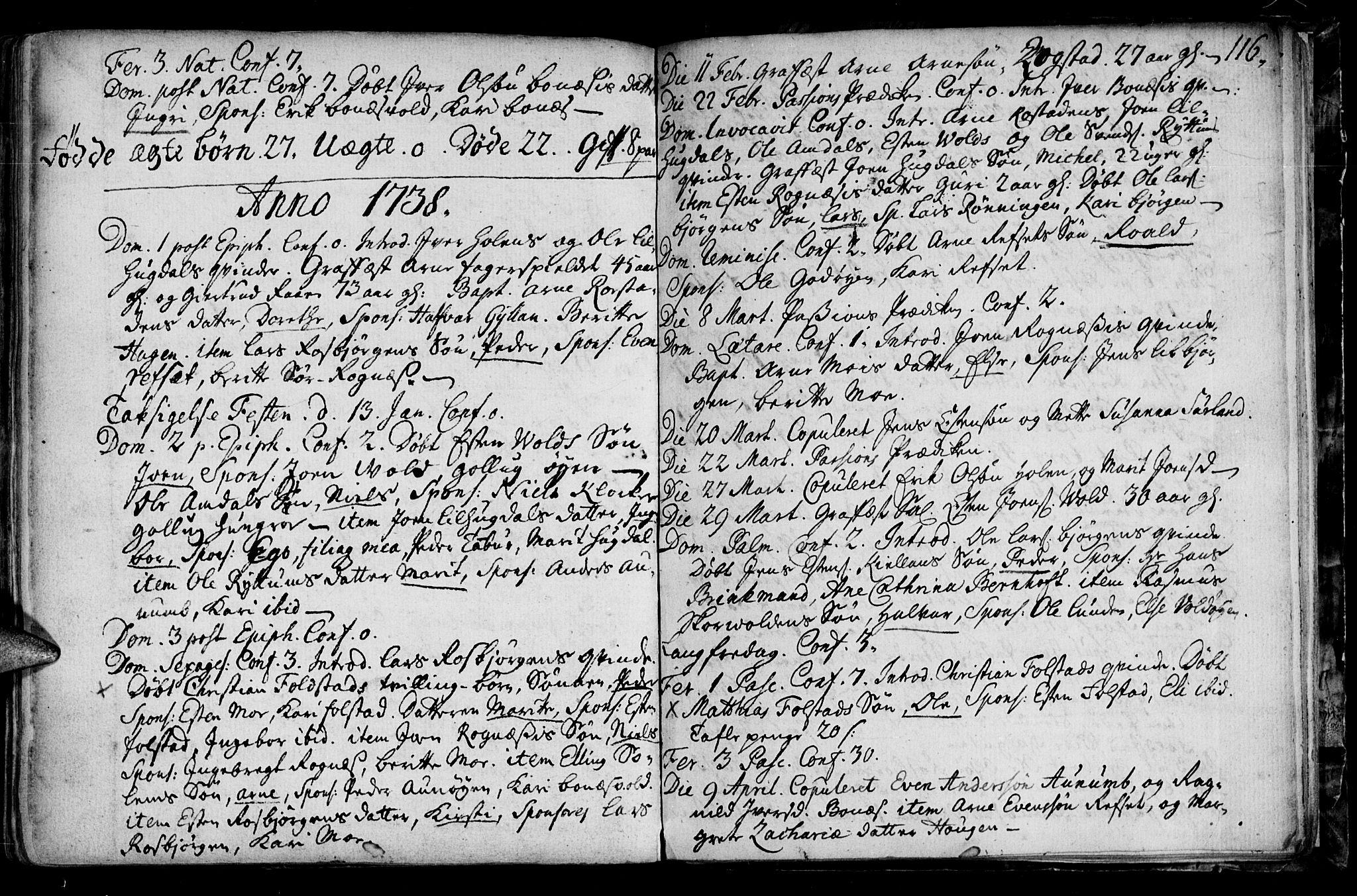 SAT, Ministerialprotokoller, klokkerbøker og fødselsregistre - Sør-Trøndelag, 687/L0990: Ministerialbok nr. 687A01, 1690-1746, s. 116