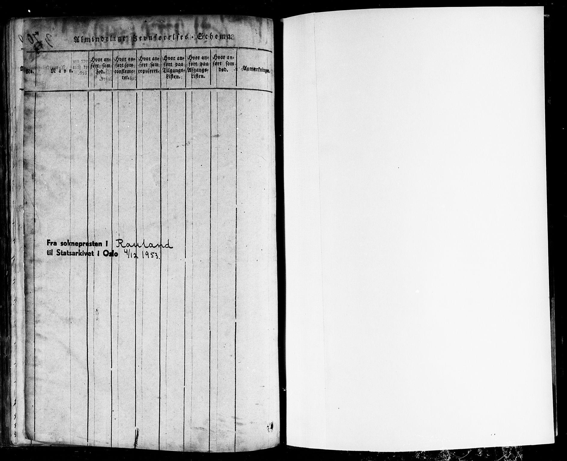 SAKO, Rauland kirkebøker, F/Fa/L0002: Ministerialbok nr. 2, 1815-1860