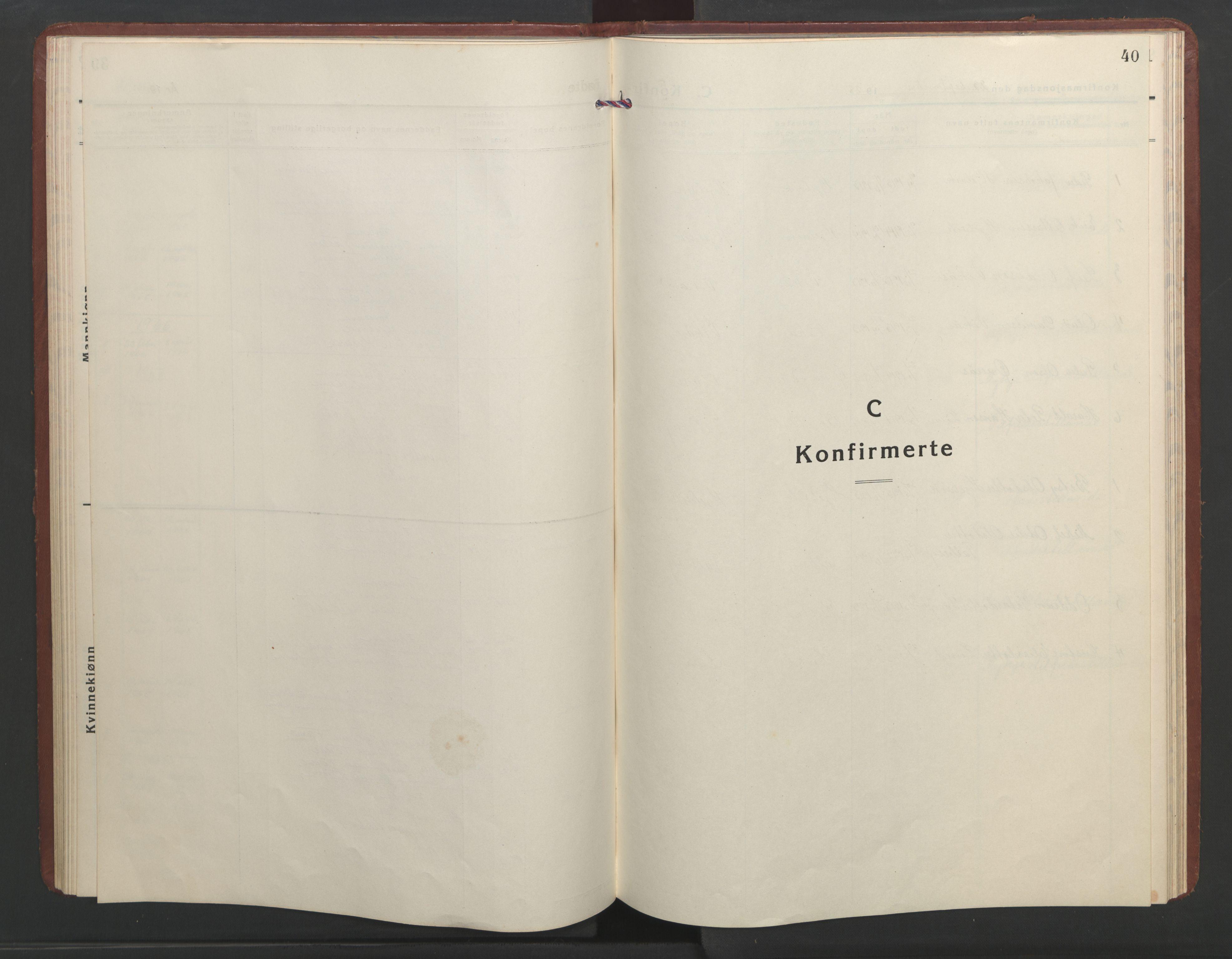 SAT, Ministerialprotokoller, klokkerbøker og fødselsregistre - Møre og Romsdal, 550/L0619: Klokkerbok nr. 550C02, 1928-1967, s. 40