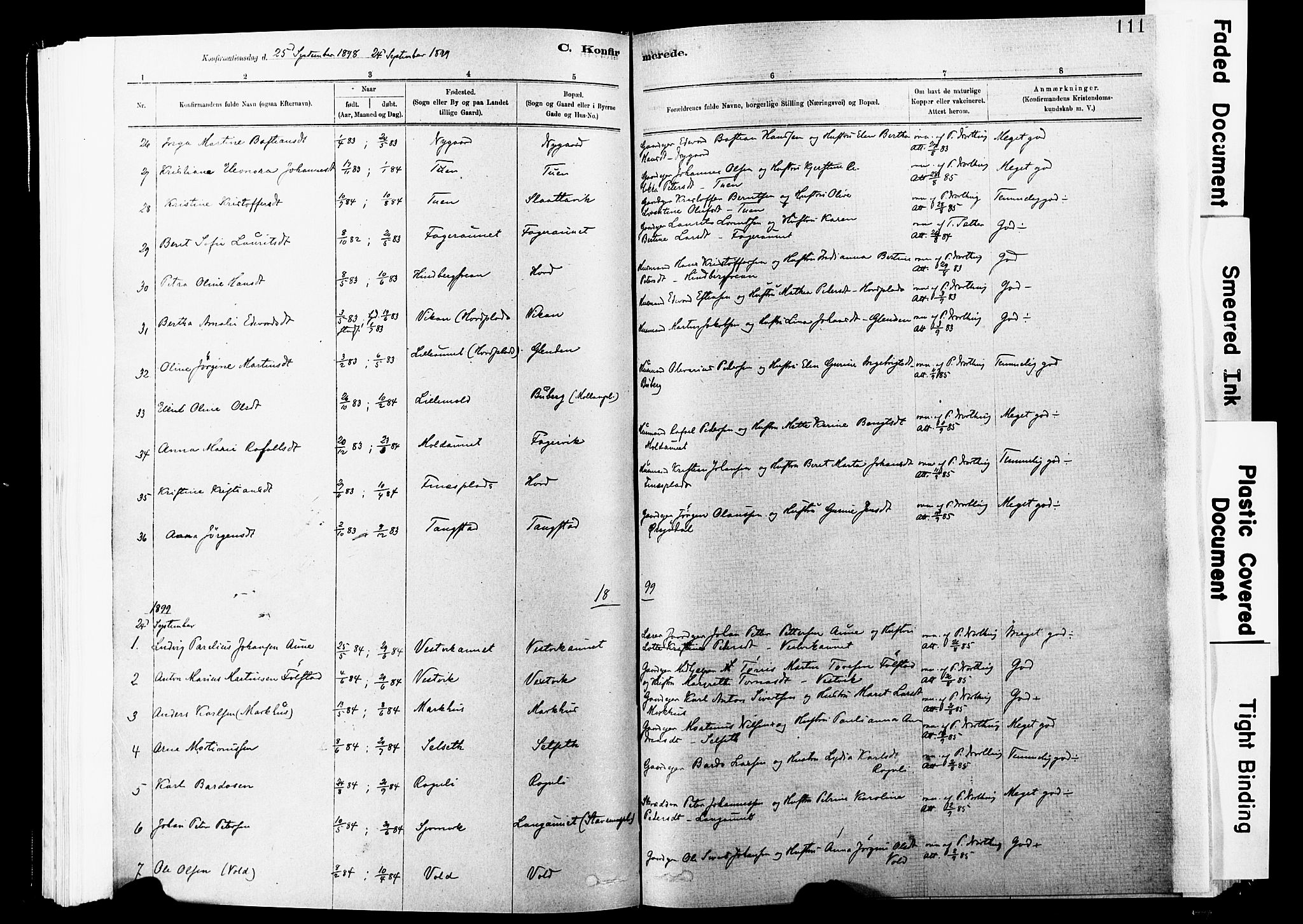 SAT, Ministerialprotokoller, klokkerbøker og fødselsregistre - Nord-Trøndelag, 744/L0420: Ministerialbok nr. 744A04, 1882-1904, s. 111