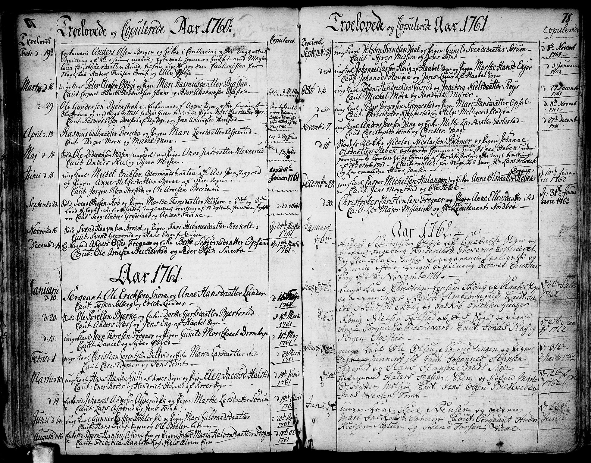 SAO, Kråkstad prestekontor Kirkebøker, F/Fa/L0001: Ministerialbok nr. I 1, 1736-1785, s. 78
