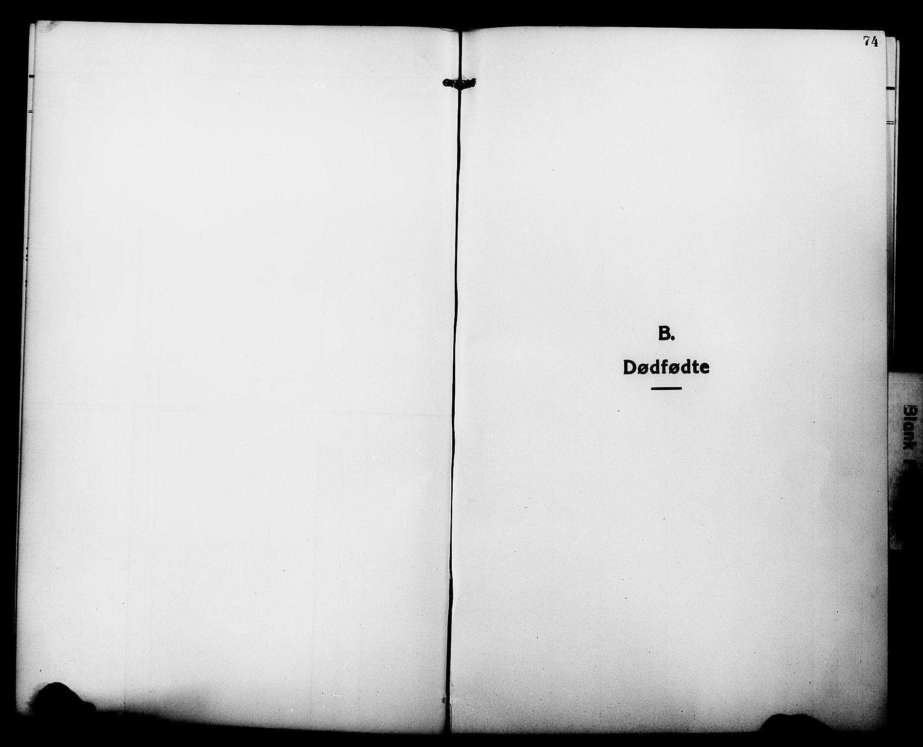 SATØ, Tranøy sokneprestkontor, I/Ia/Iab/L0015klokker: Klokkerbok nr. 15, 1918-1930, s. 74