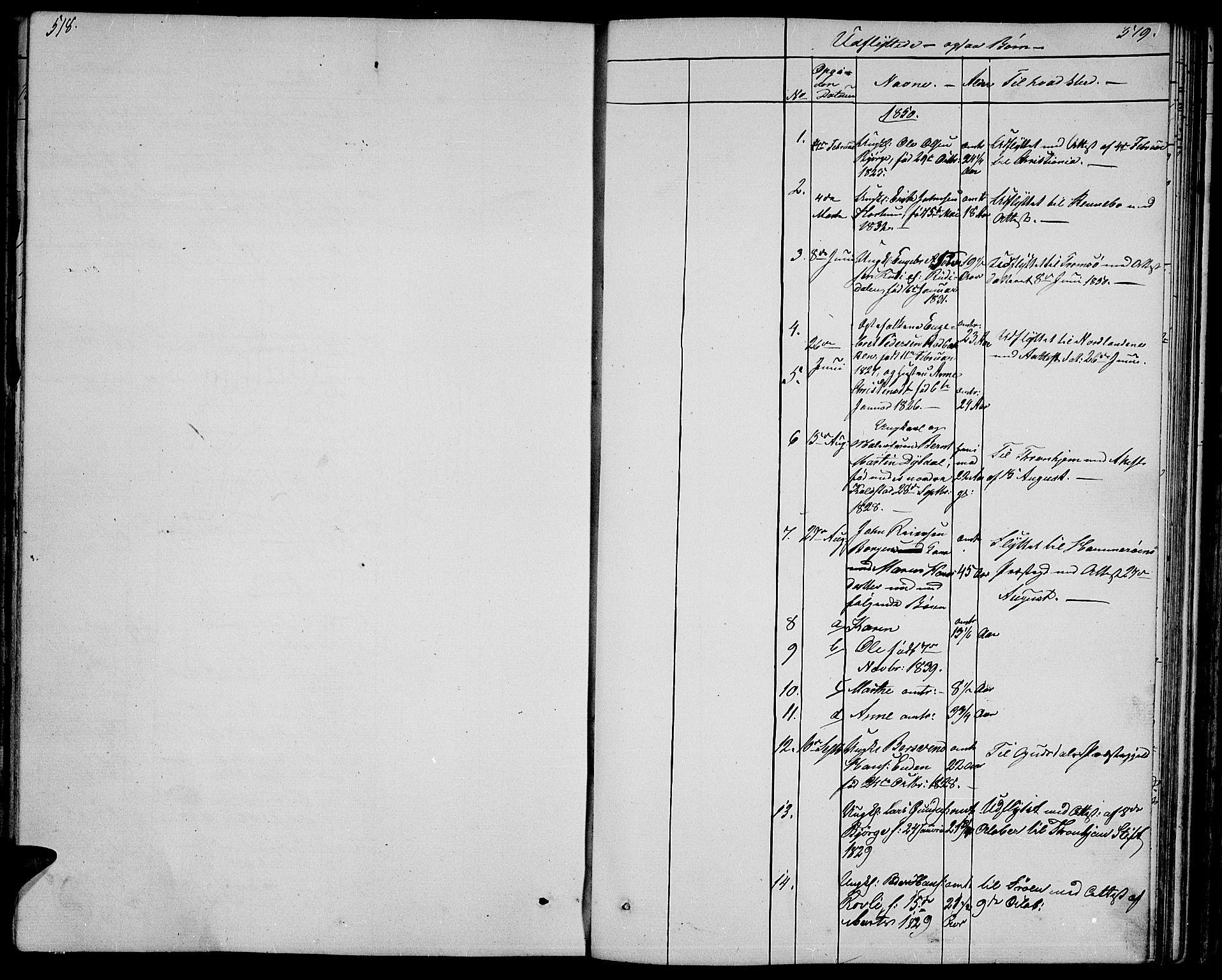 SAH, Ringebu prestekontor, Klokkerbok nr. 2, 1839-1853, s. 518-519