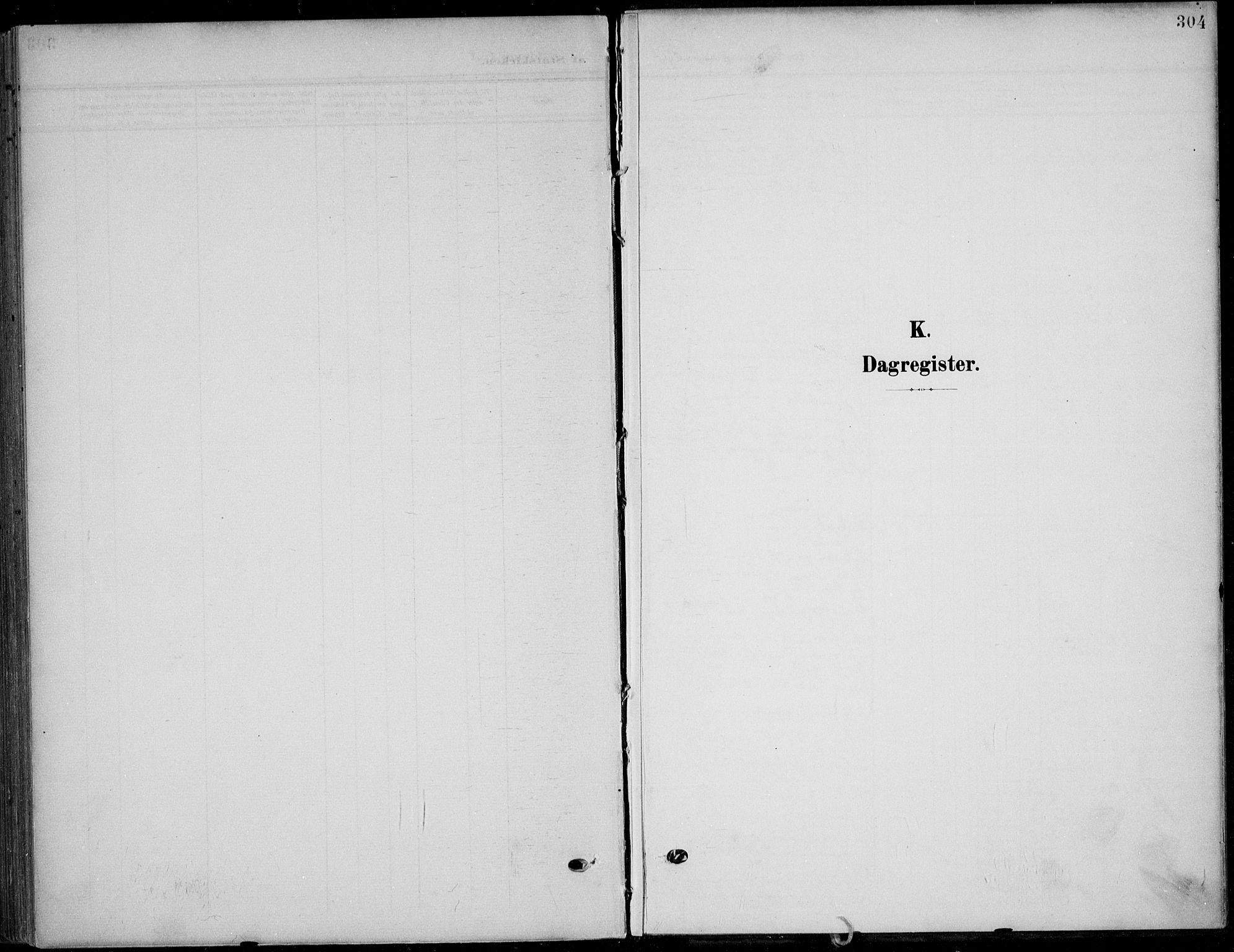 SAKO, Solum kirkebøker, F/Fb/L0003: Ministerialbok nr. II 3, 1901-1912, s. 304