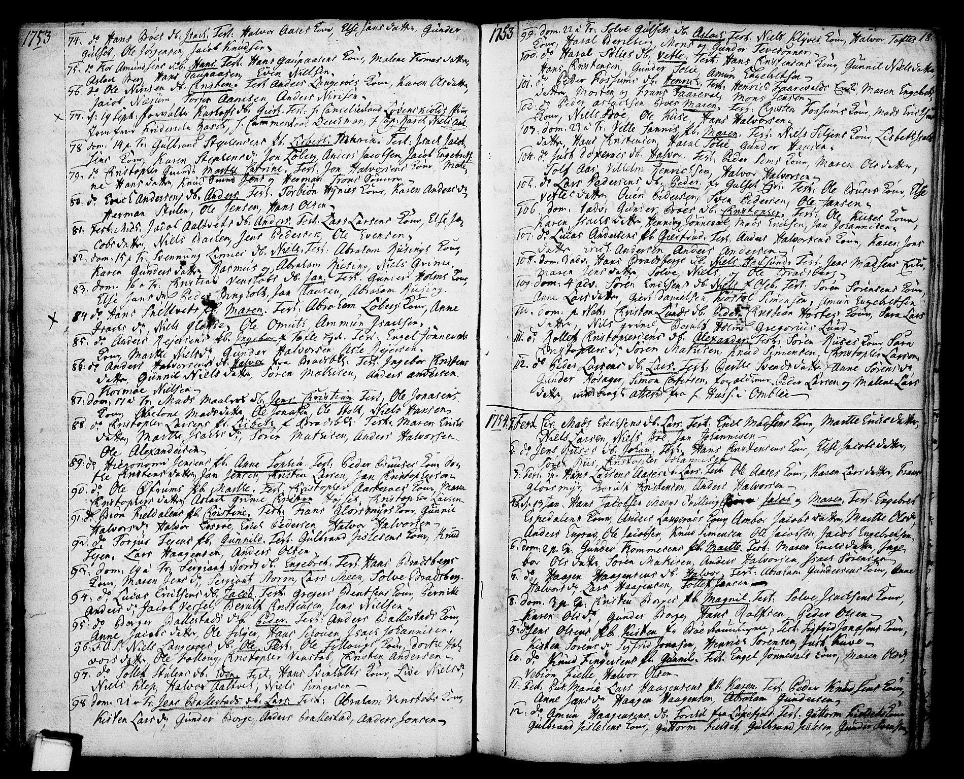 SAKO, Gjerpen kirkebøker, F/Fa/L0002: Ministerialbok nr. 2, 1747-1795, s. 18