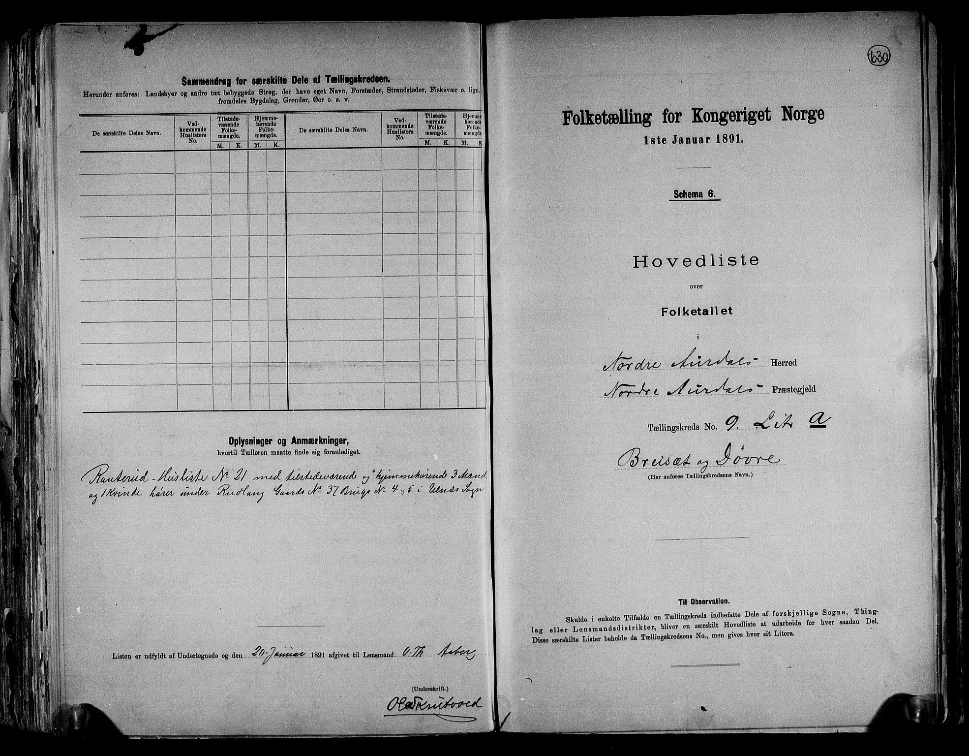 RA, Folketelling 1891 for 0542 Nord-Aurdal herred, 1891, s. 25